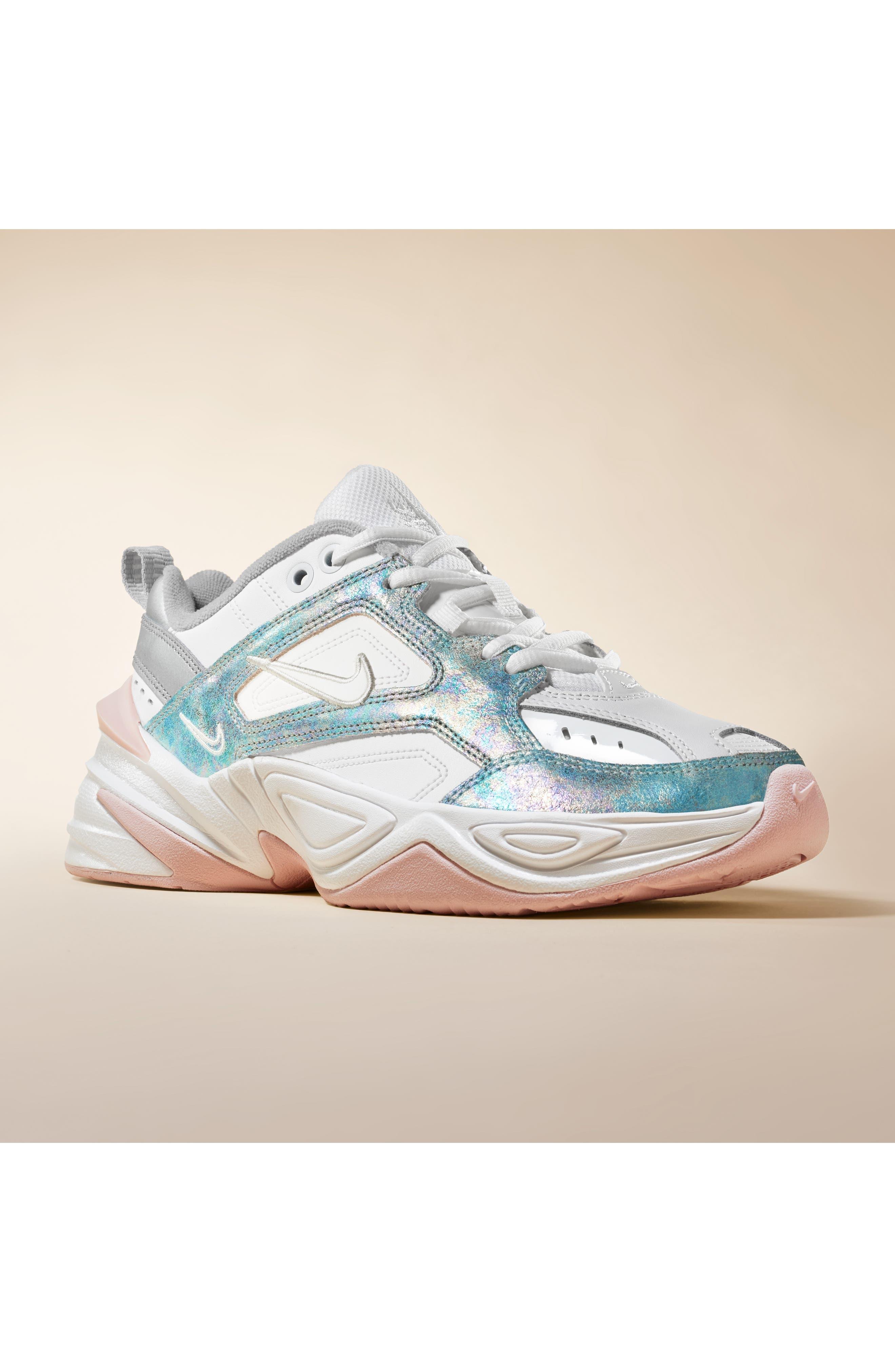 NIKE, M2K Tekno Sneaker, Alternate thumbnail 7, color, SUMMIT WHITE/ BARELY ROSE