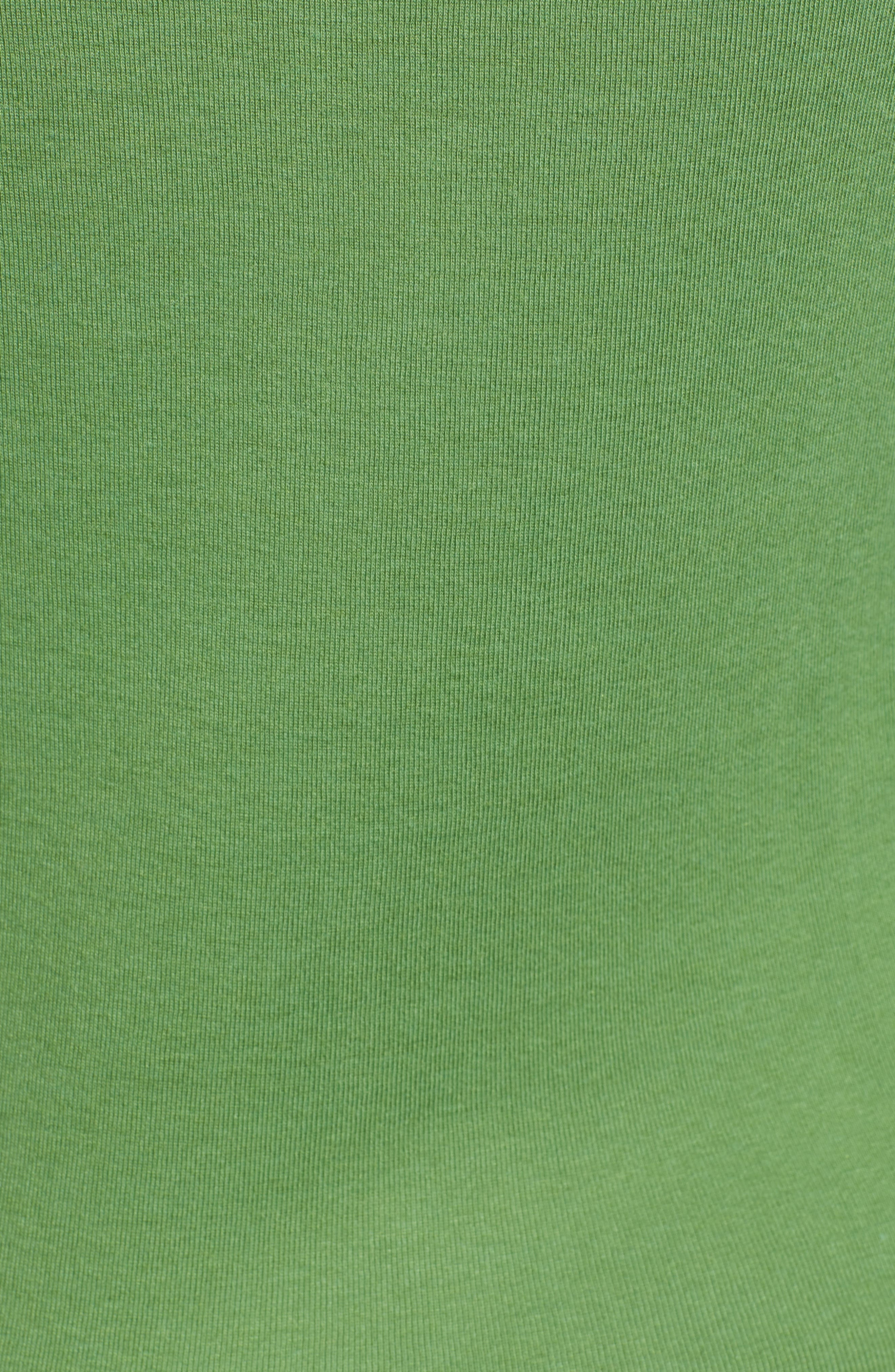 CASLON<SUP>®</SUP>, Three Quarter Sleeve Tee, Alternate thumbnail 6, color, GREEN WILLOW