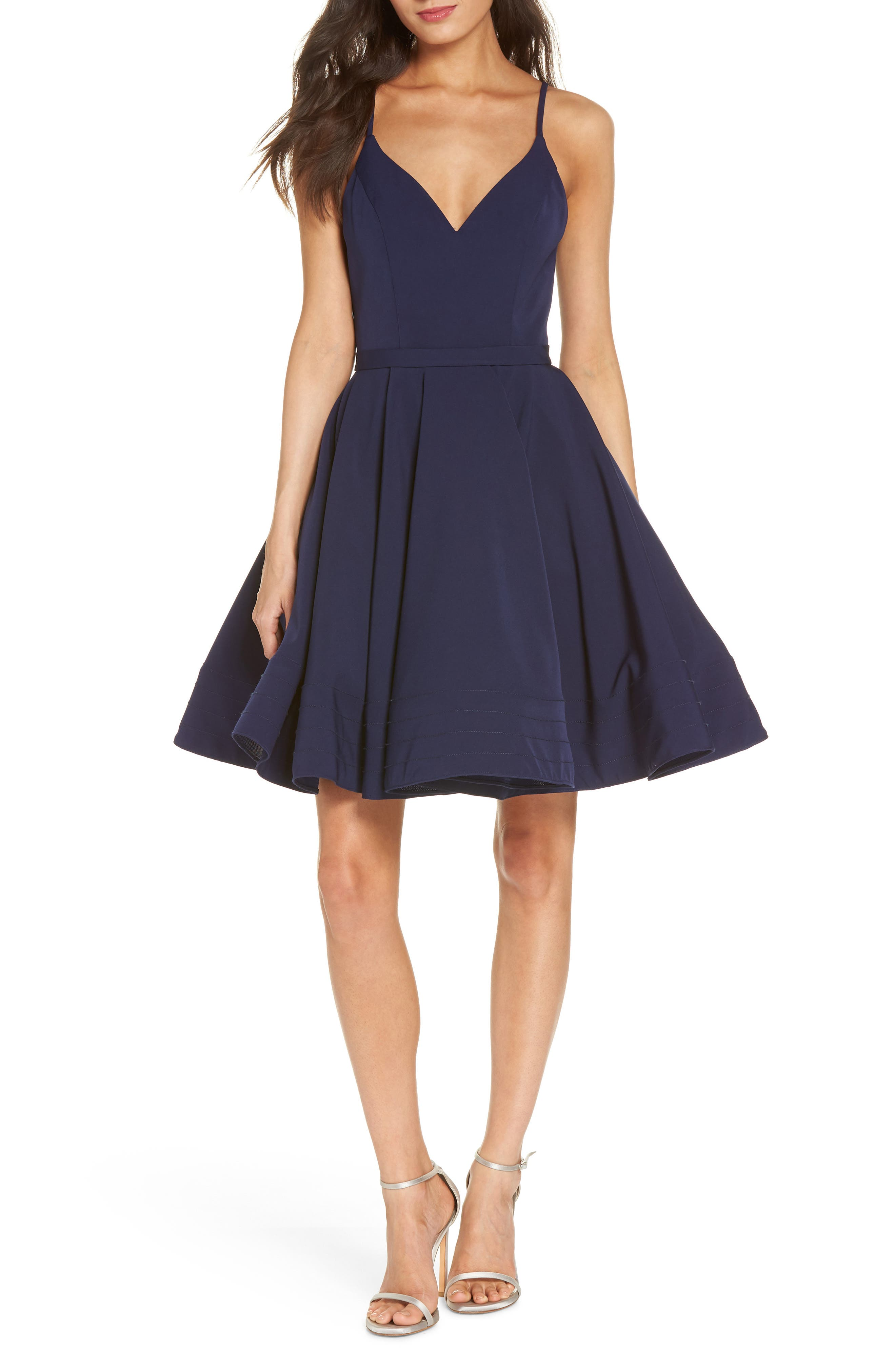 MAC Duggal Fit & Flare Party Dress, Blue
