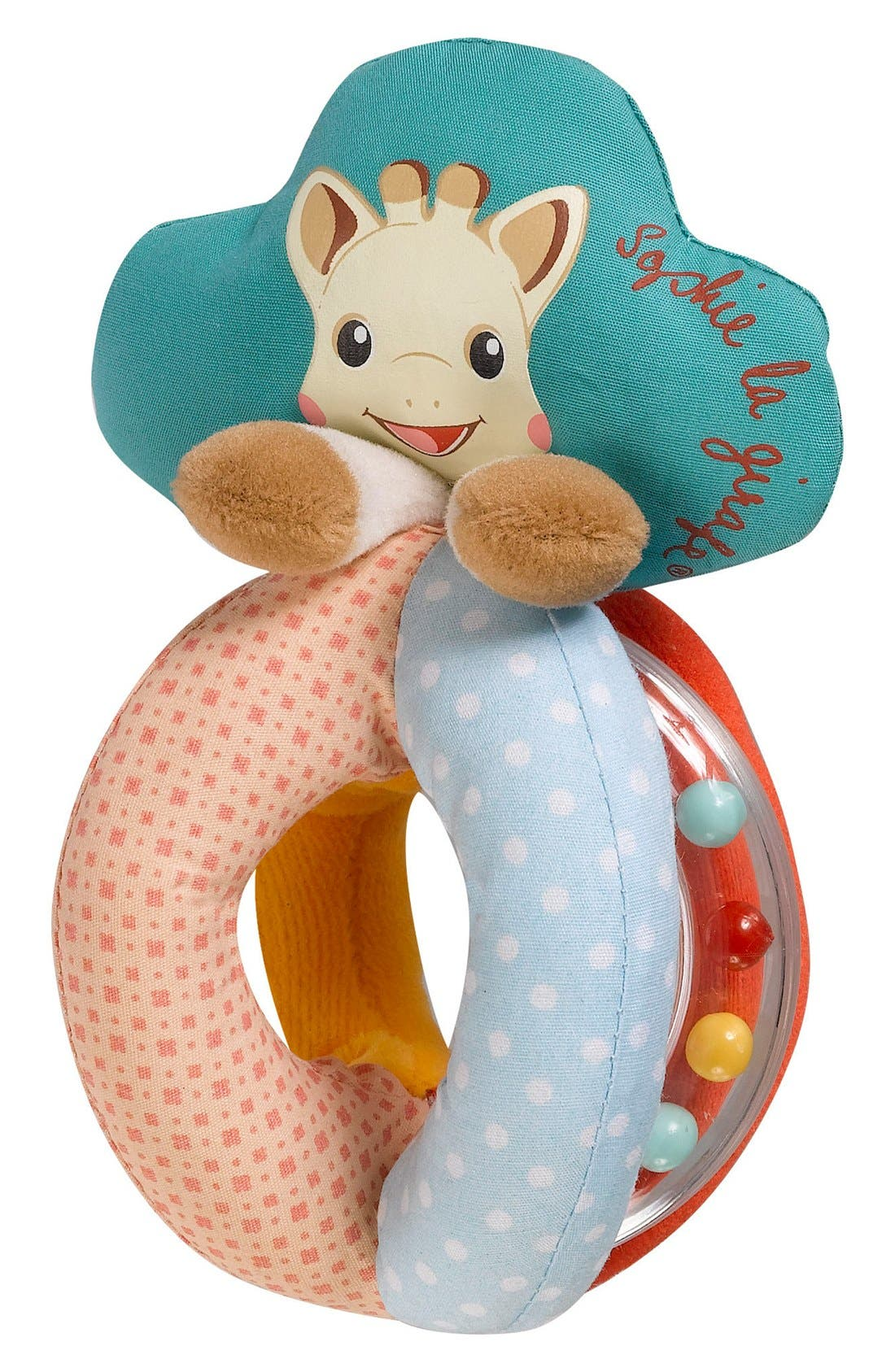 SOPHIE LA GIRAFE, 'Sophiesticated' Rattle & Teething Toy, Alternate thumbnail 2, color, CREAM