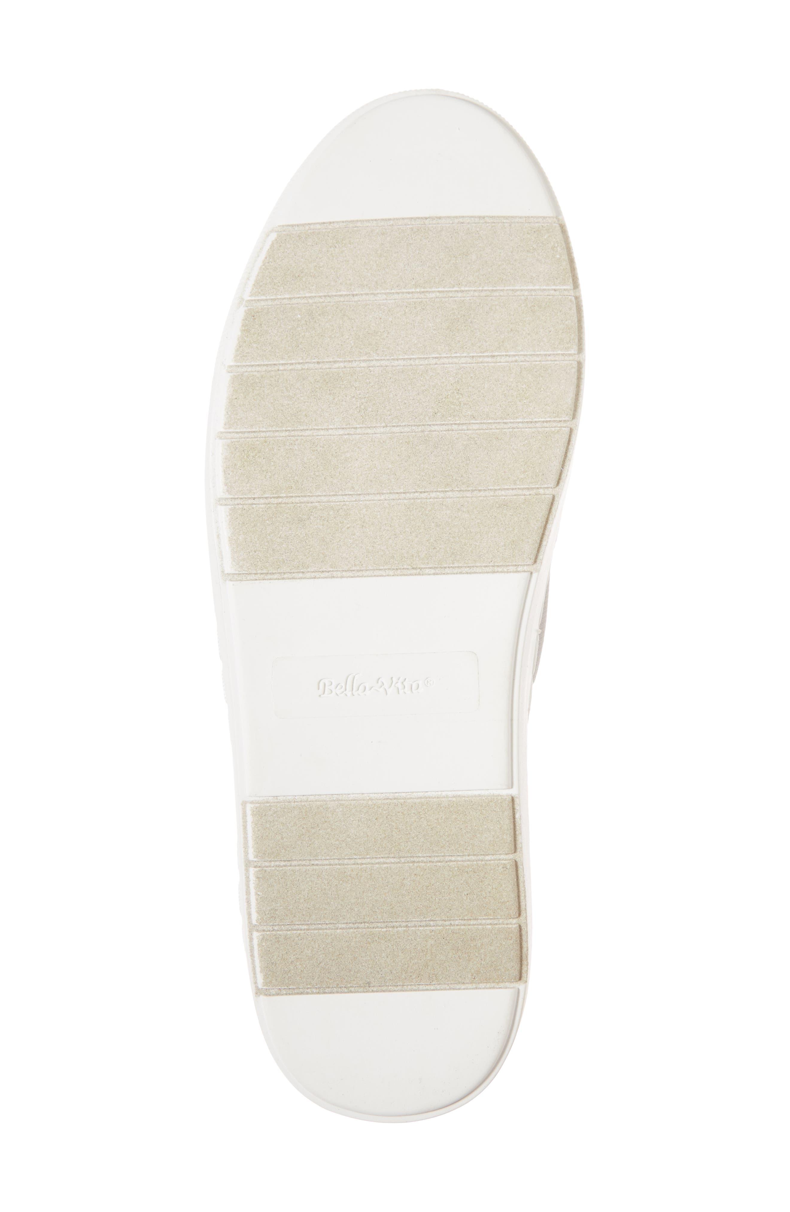 BELLA VITA, Ramp II Slip-On Sneaker, Alternate thumbnail 6, color, LIGHT GREY FABRIC