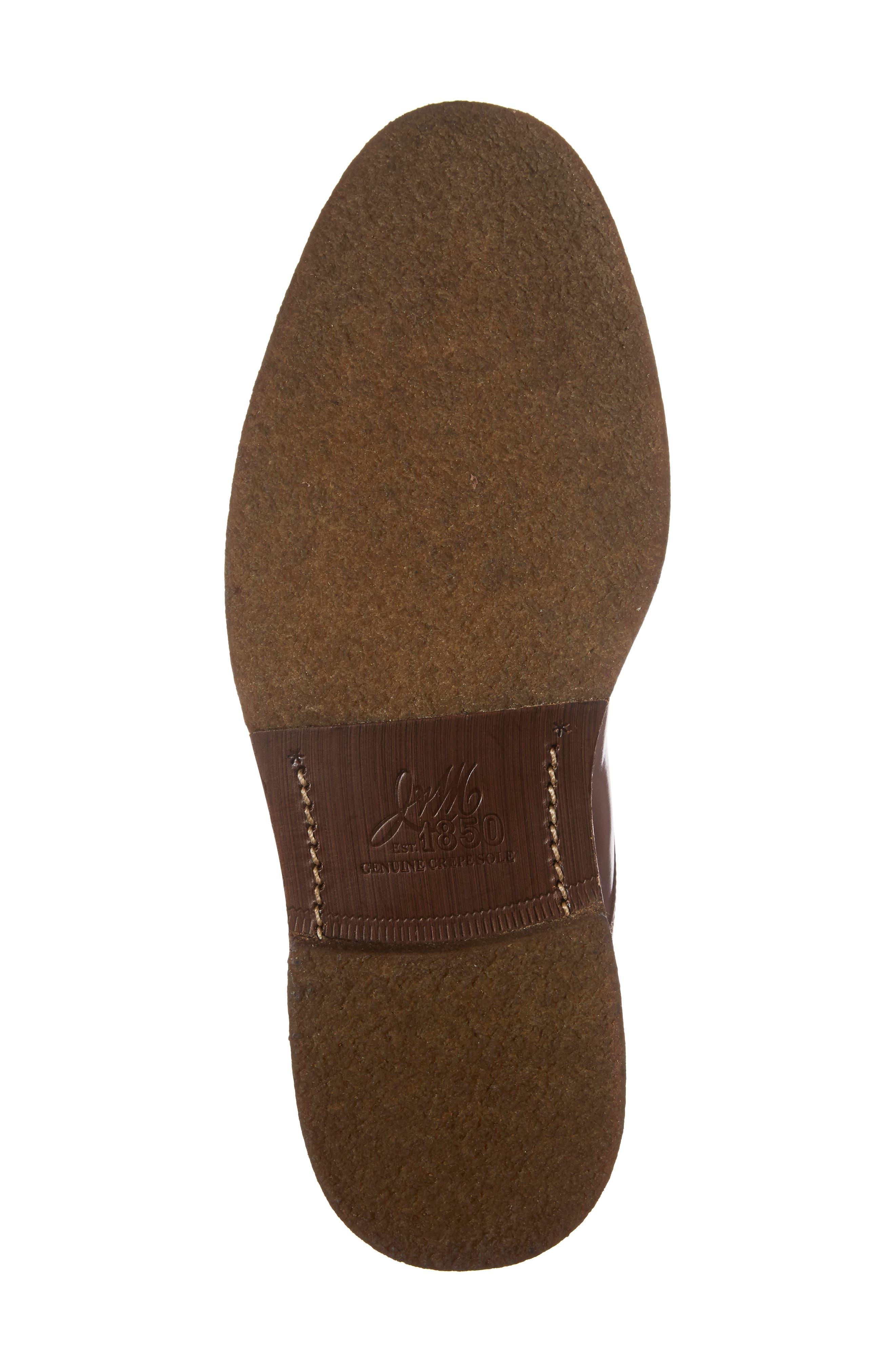 J&M 1850, Forrester Cap Toe Boot, Alternate thumbnail 6, color, MAHOGANY LEATHER