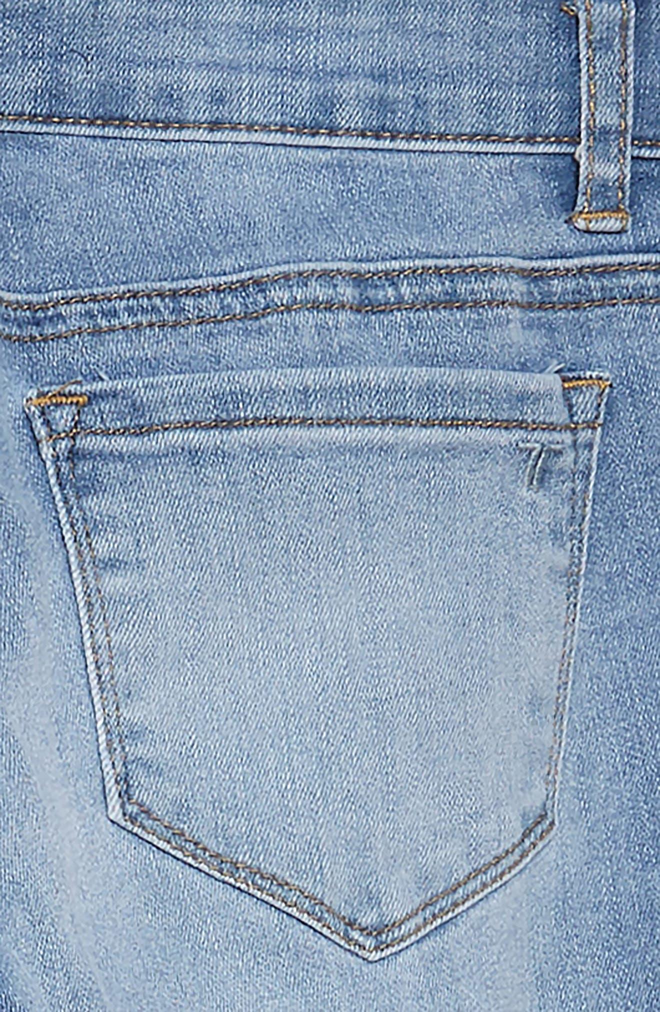 TRACTR, Diane Skinny Jeans, Alternate thumbnail 3, color, LIGHT INDIGO