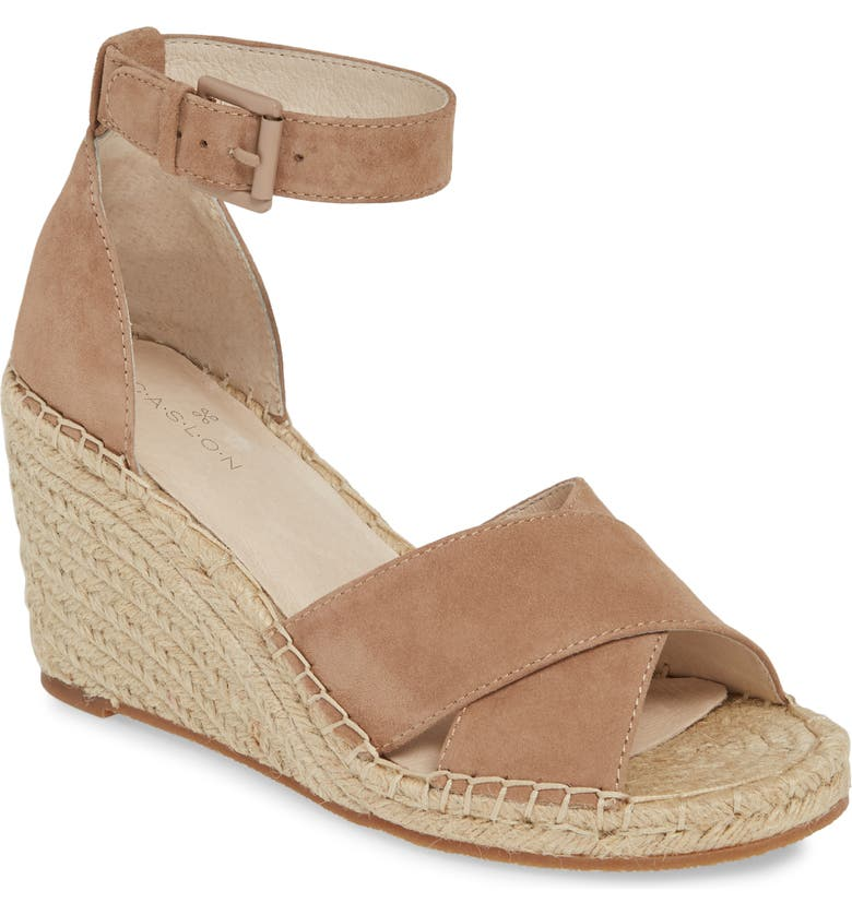 CASLON<SUP>®</SUP> Shiloh Espadrille Sandal, Main, color, TAUPE SUEDE