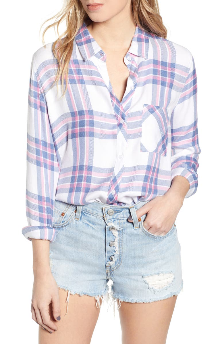 Rails T-shirts Hunter Plaid Shirt