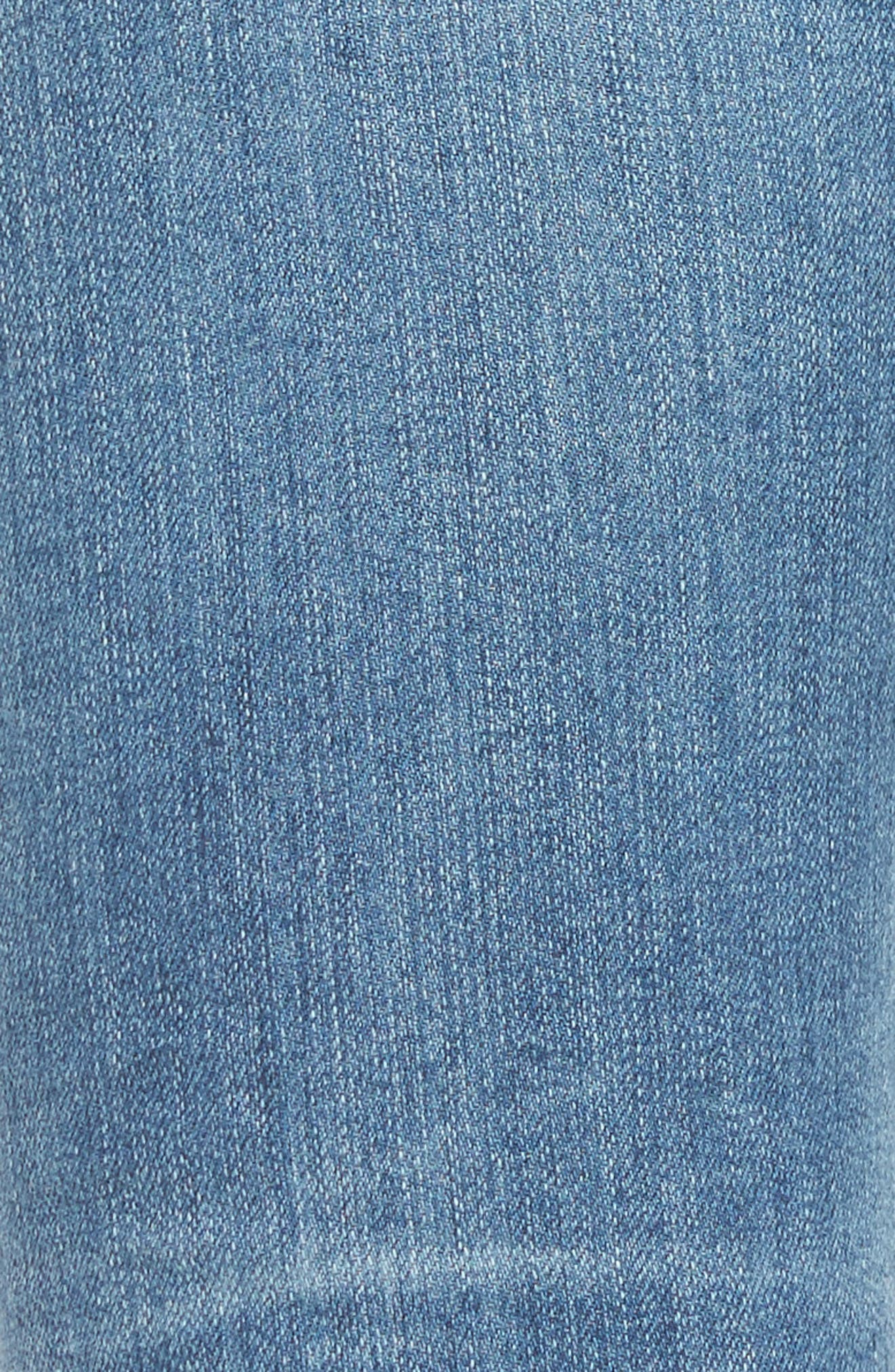 AG, 'Stilt' Distressed Roll Cuff Cigarette Jeans, Alternate thumbnail 5, color, 403