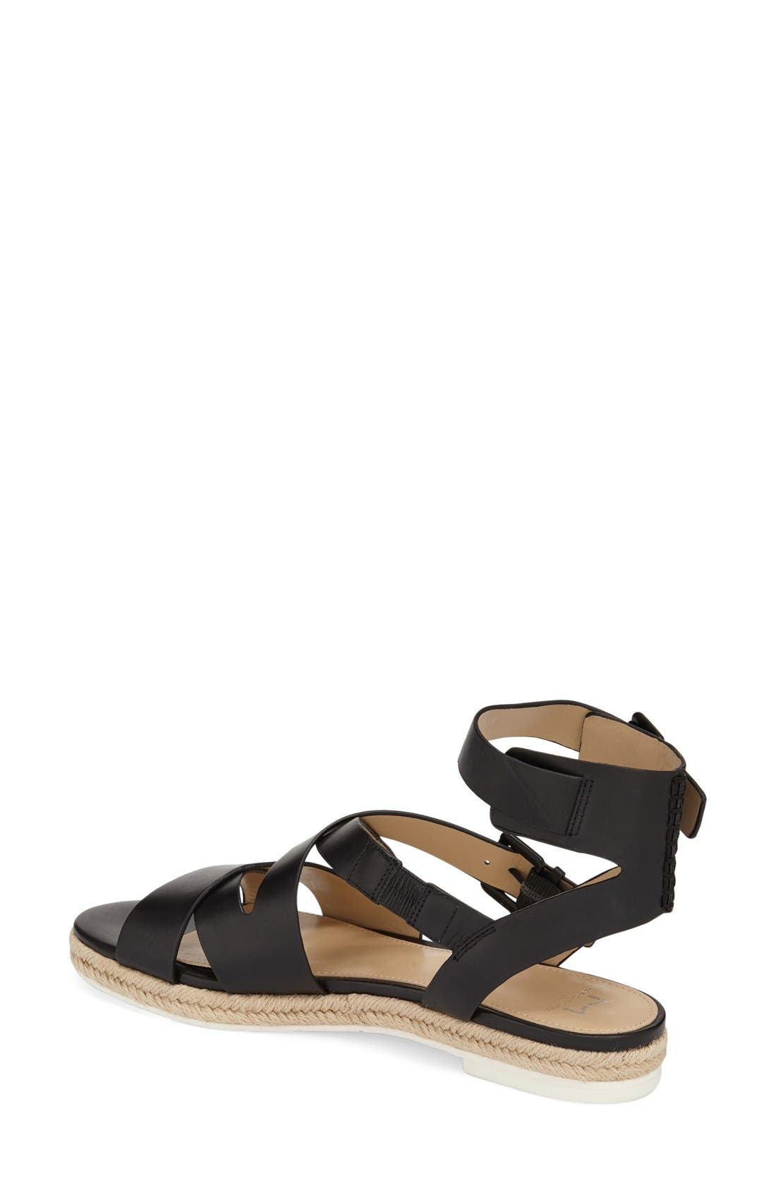 MARC FISHER LTD, 'Alysse' Flat Sandal, Alternate thumbnail 4, color, 001