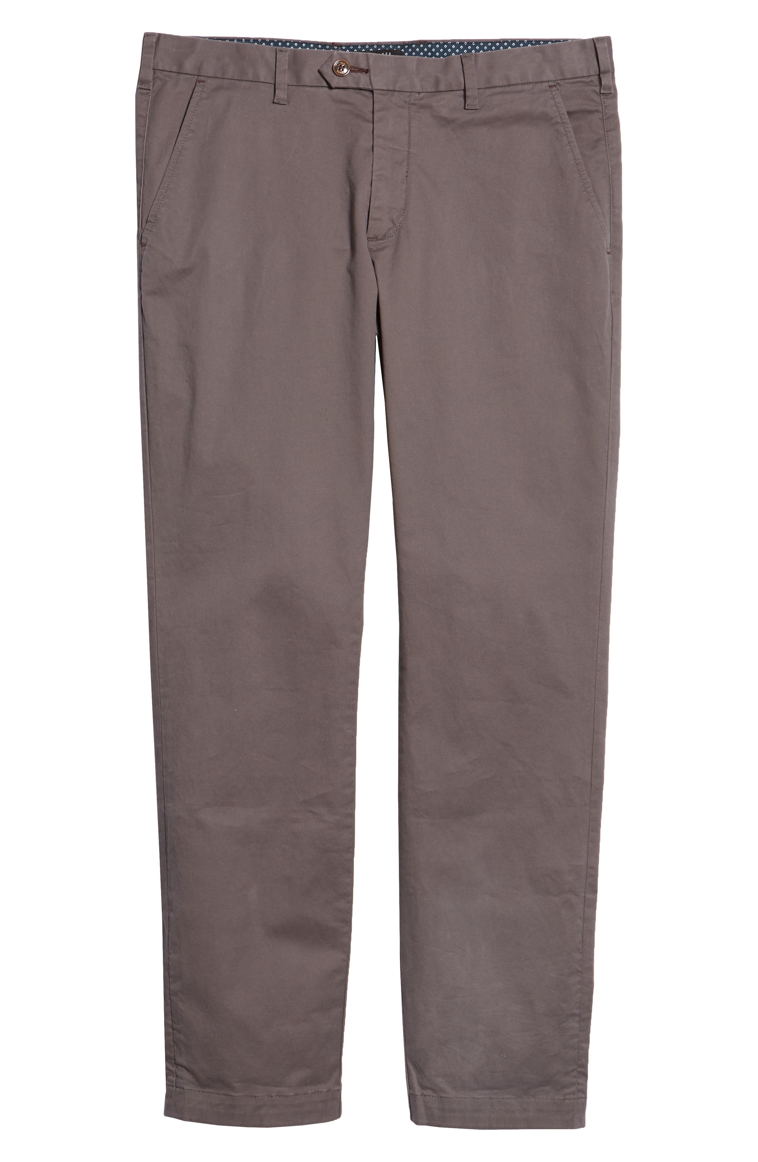 TED BAKER LONDON, Selebtt Slim Fit Stretch Cotton Chinos, Alternate thumbnail 6, color, 020