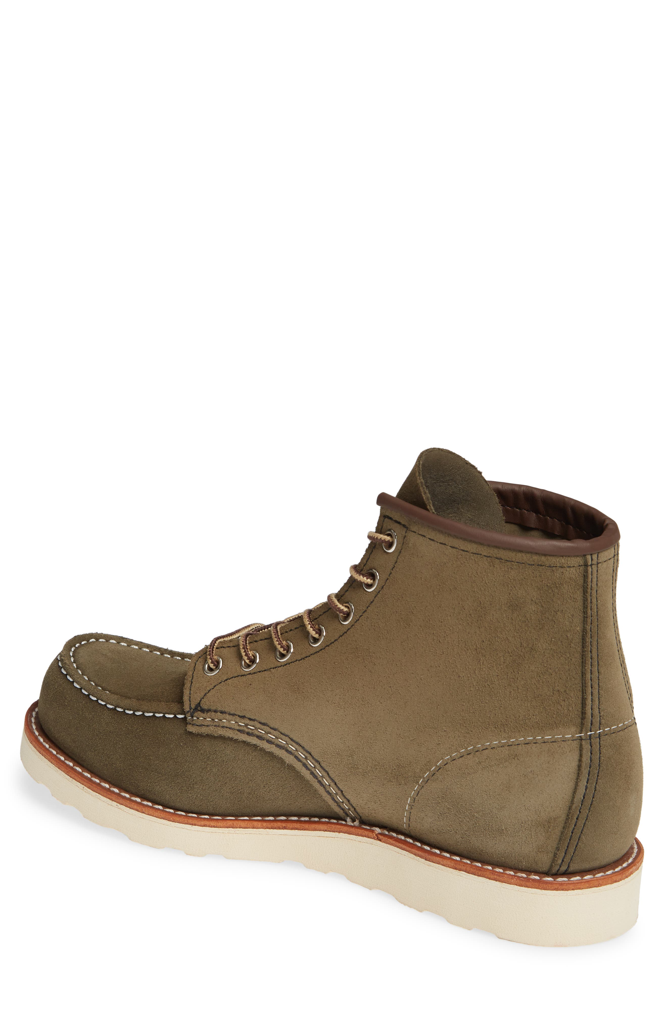 RED WING, 6 Inch Moc Toe Boot, Alternate thumbnail 2, color, LODEN ABILENE LEATHER