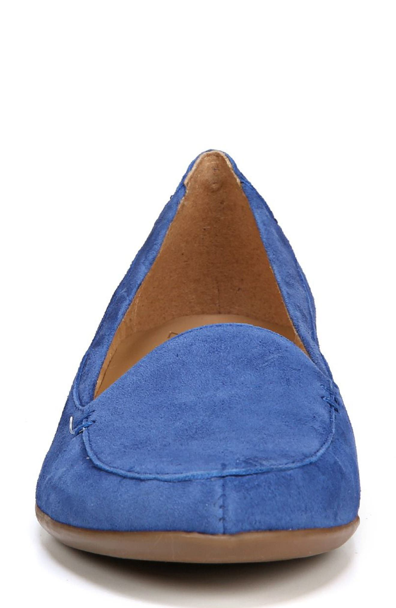 NATURALIZER, 'Saban' Leather Loafer, Alternate thumbnail 4, color, FRENCH BLUE SUEDE