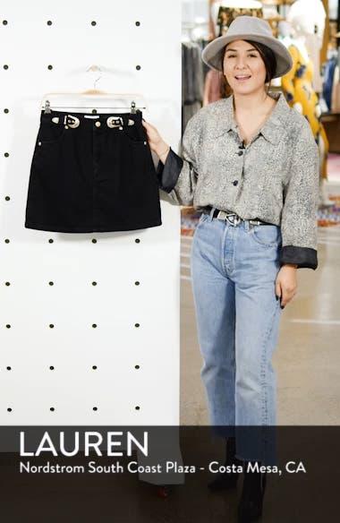 Buckle Denim Skirt, sales video thumbnail