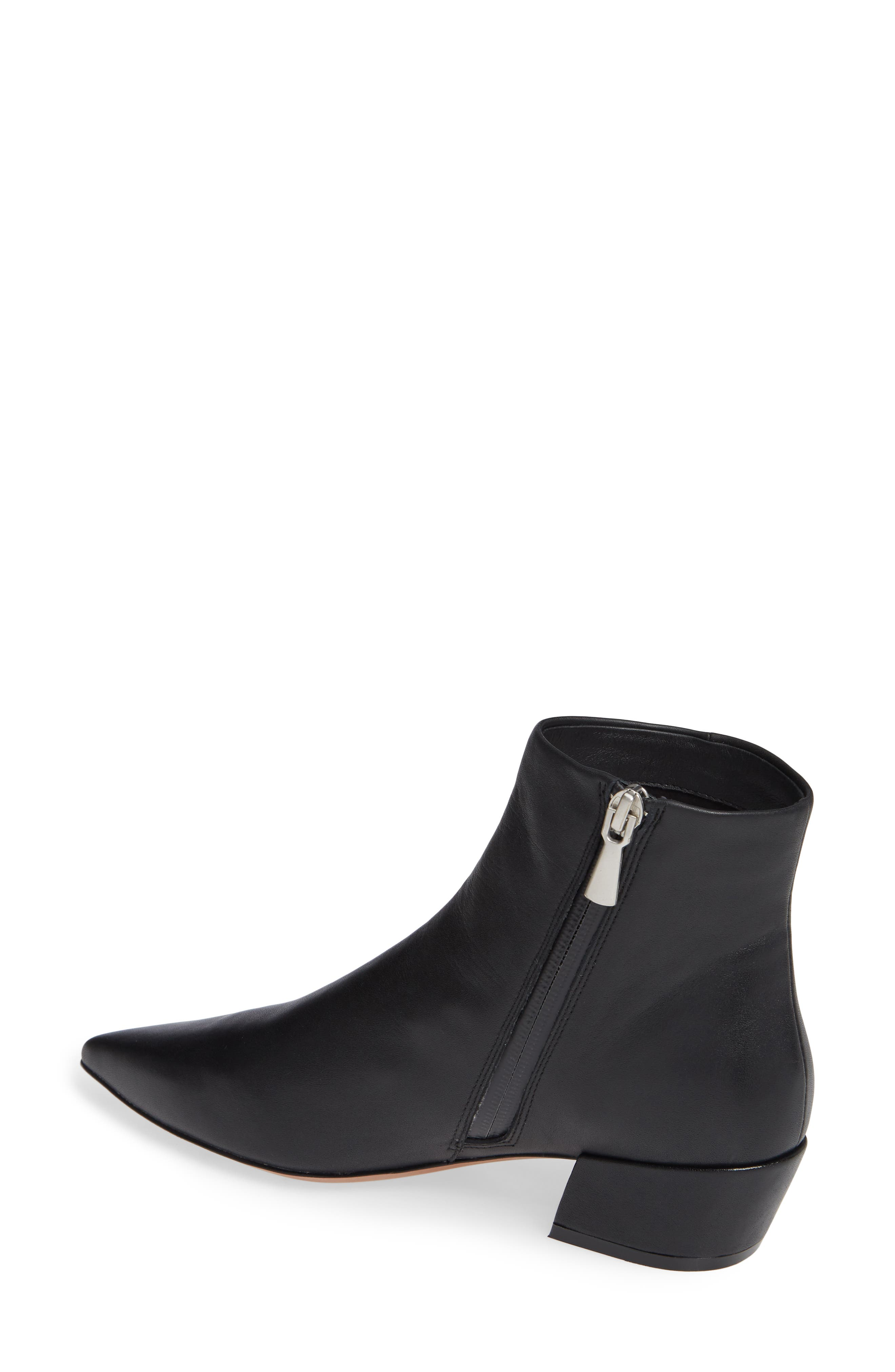 LINEA PAOLO, Robyn Waterproof Boot, Alternate thumbnail 2, color, BLACK LEATHER
