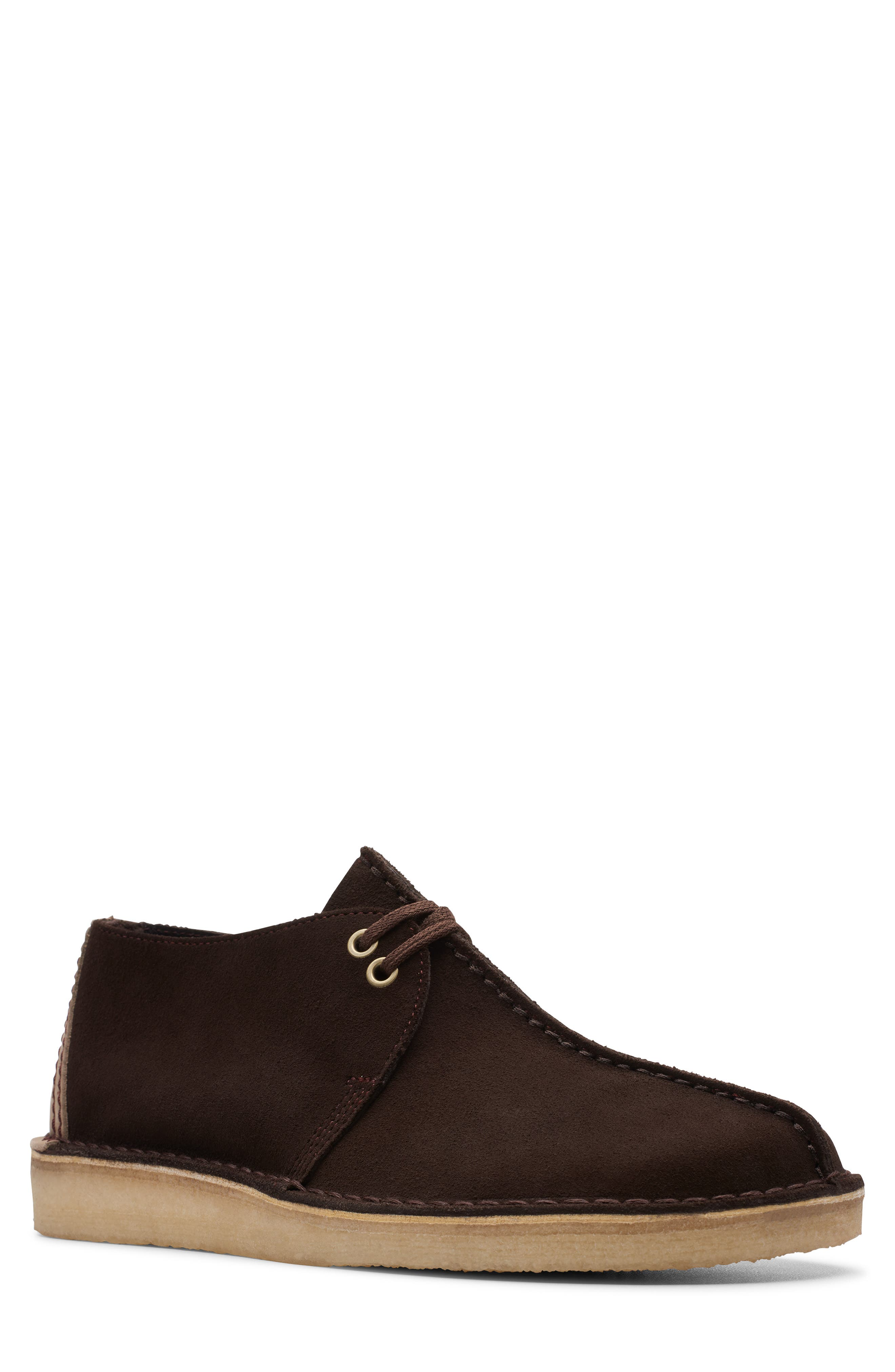 CLARKS<SUP>®</SUP>, Desert Trek Chukka Boot, Main thumbnail 1, color, DARK BROWN SUEDE