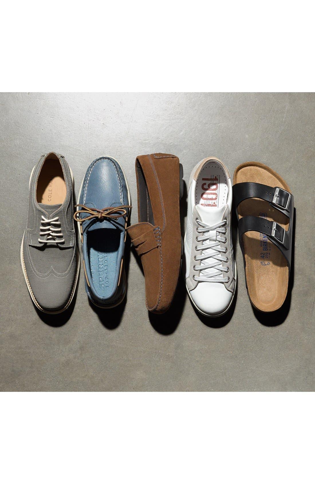 BIRKENSTOCK, 'Arizona Soft' Sandal, Alternate thumbnail 5, color, BLACK