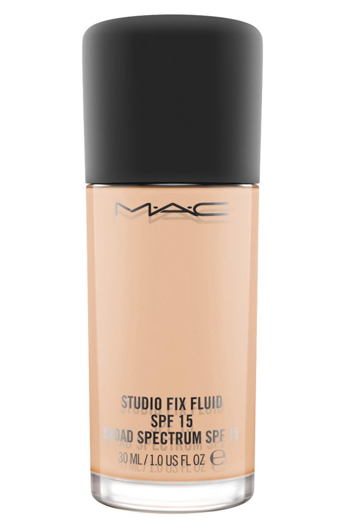 MAC COSMETICS, MAC M·A·C Studio Fix Fluid Foundation SPF 15, Main thumbnail 1, color, NW20 WARM NEUTRAL ROSY