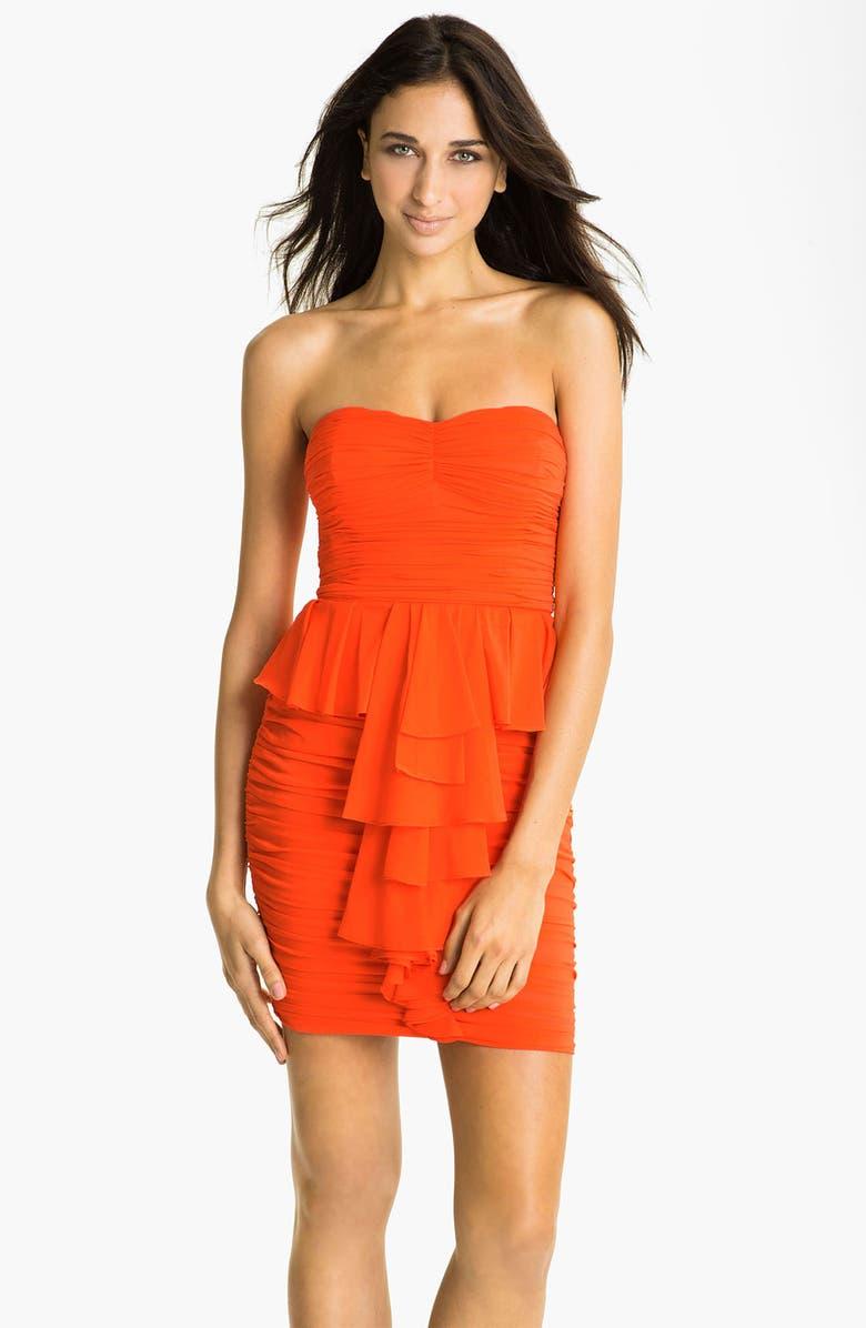 3234cdbdd2f9b JILL JILL STUART Jill Stuart Strapless Ruched Silk Chiffon Dress, Main,  color, 811
