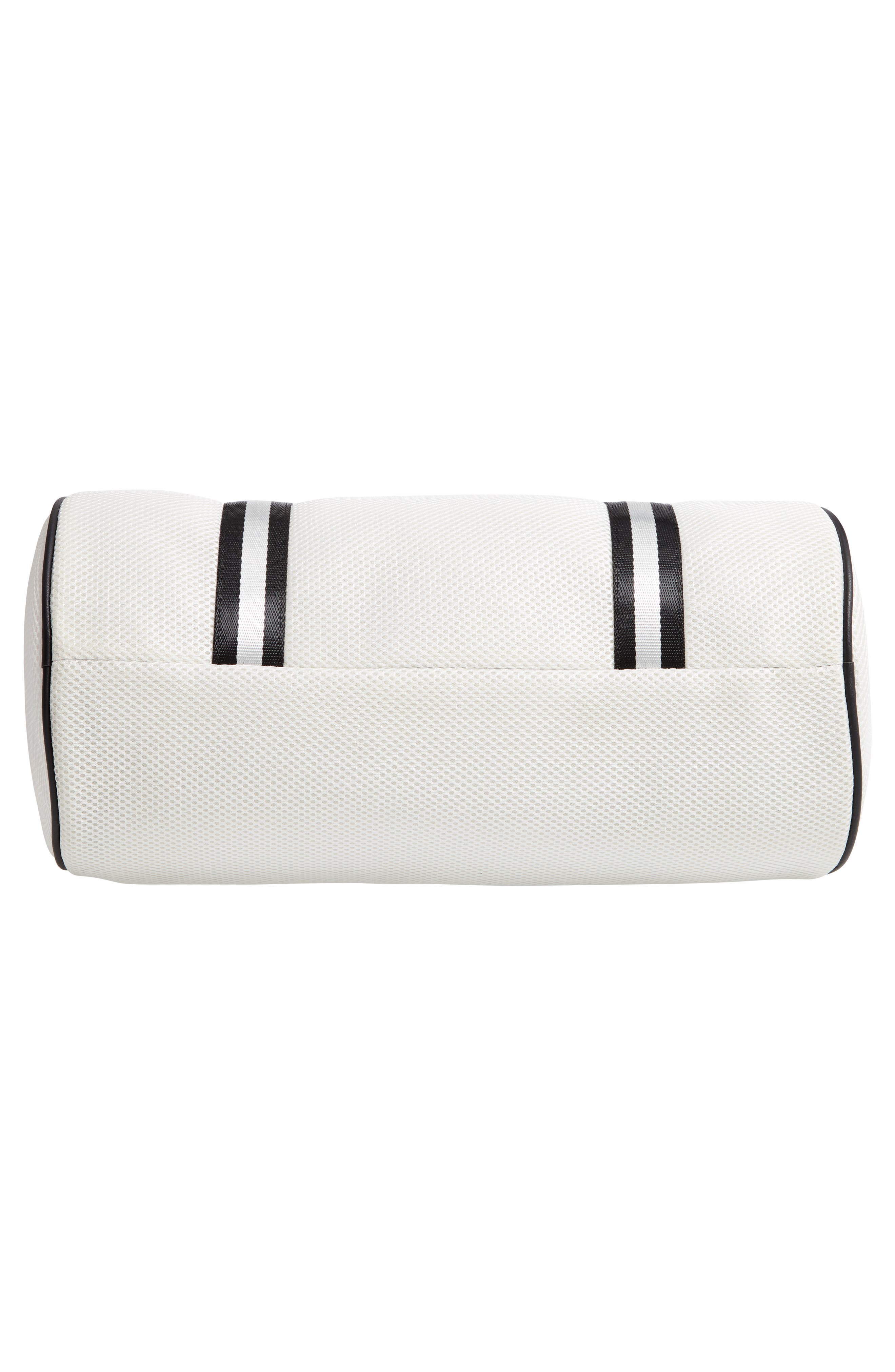 YOKI BAGS, Mesh Duffle Bag, Alternate thumbnail 6, color, WHITE MULTI