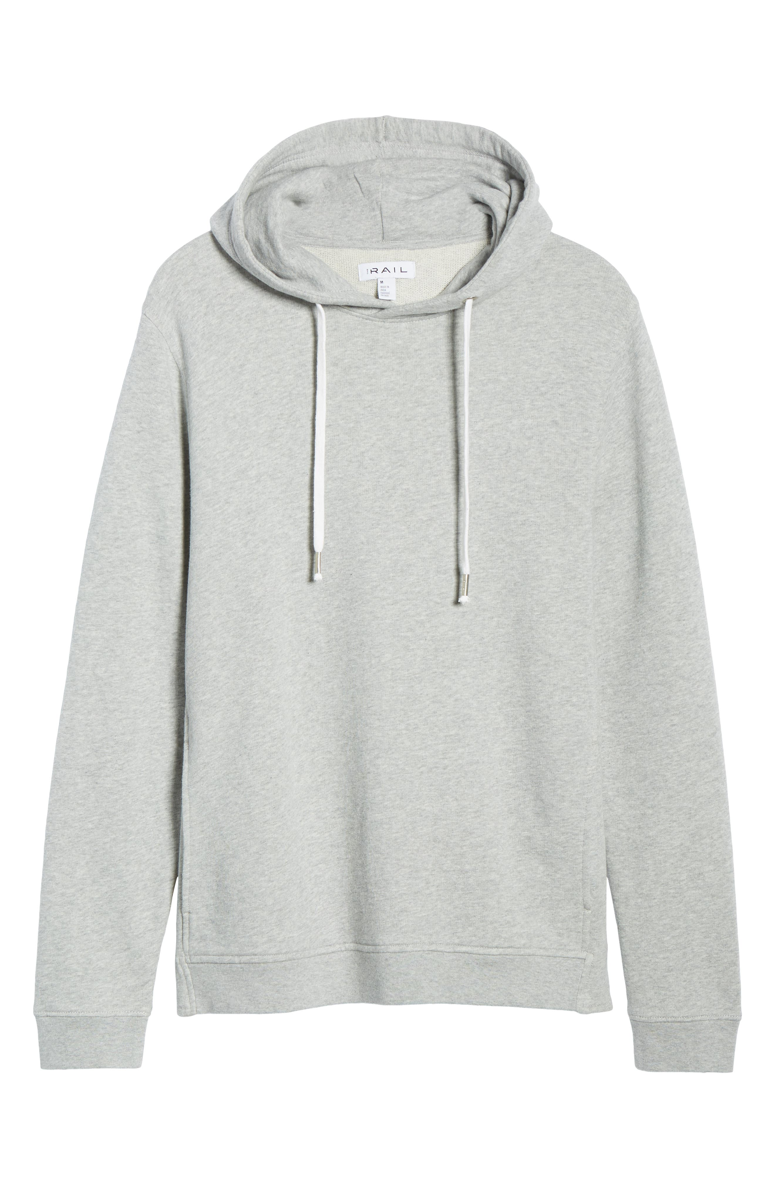 THE RAIL, Heather Sunfaded Hoodie, Alternate thumbnail 6, color, GREY ASH HEATHER