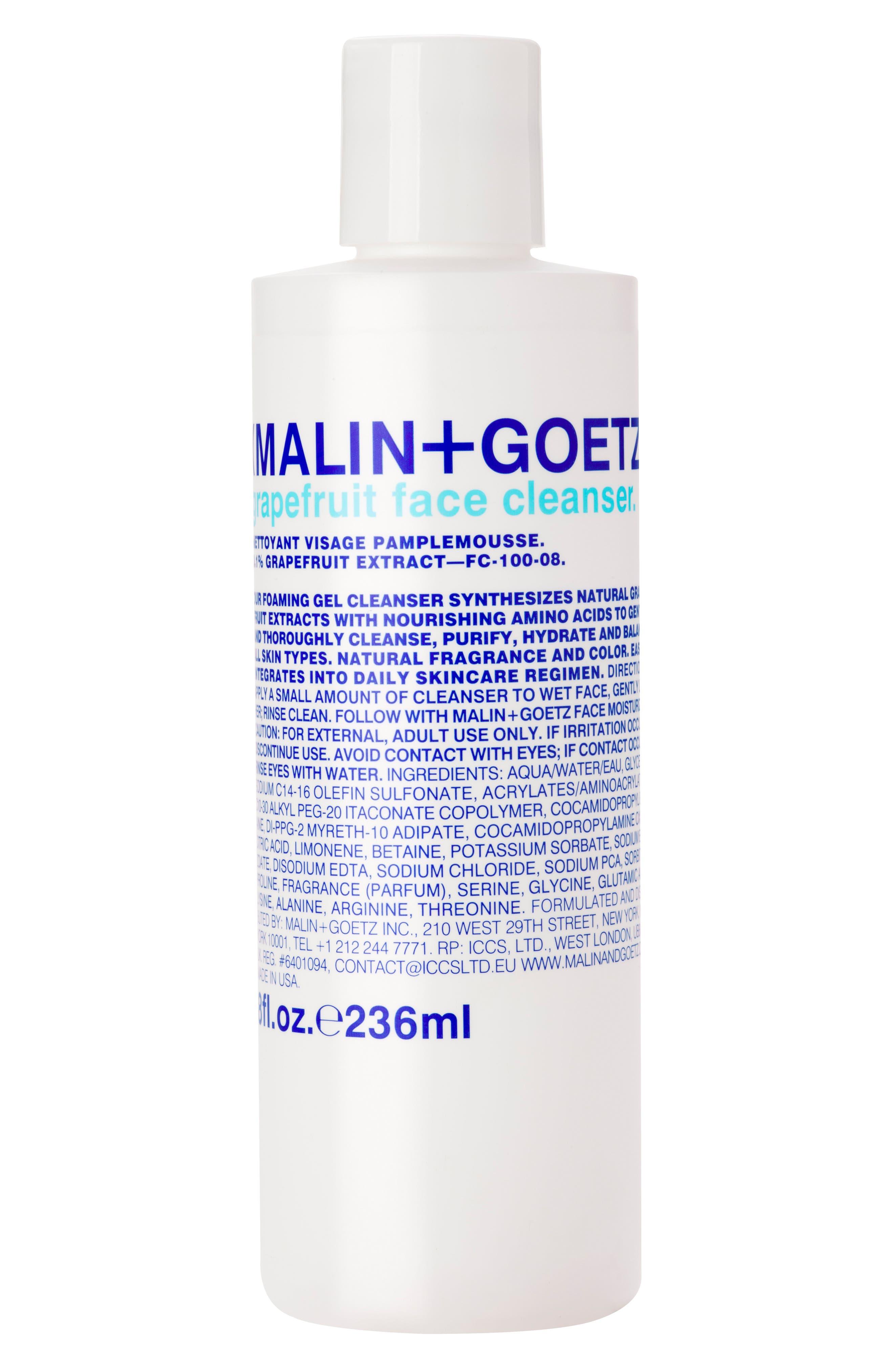 MALIN+GOETZ Grapefruit Face Cleanser, Main, color, NO COLOR