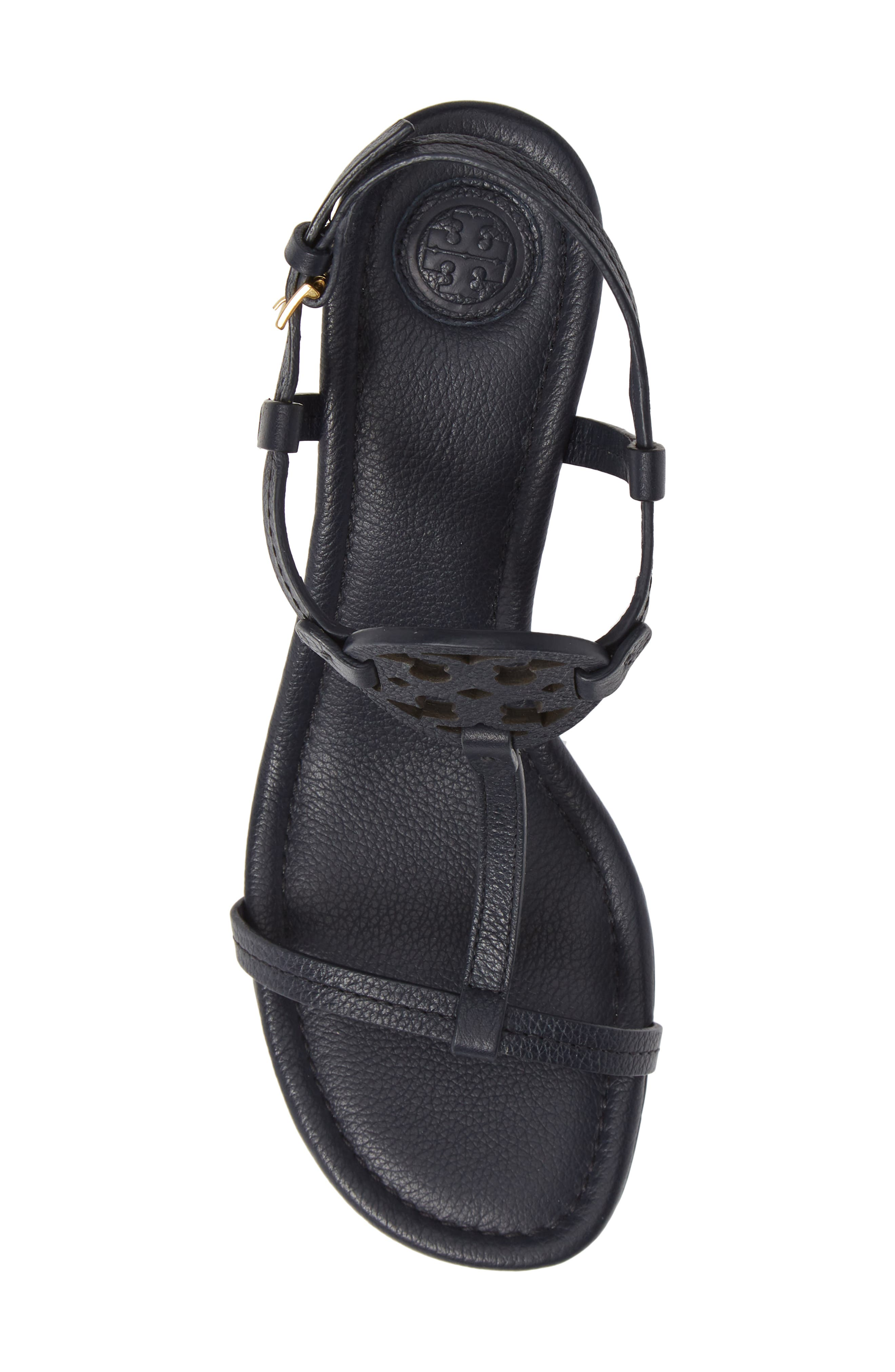 TORY BURCH, Miller Wedge Sandal, Alternate thumbnail 5, color, PERFECT NAVY