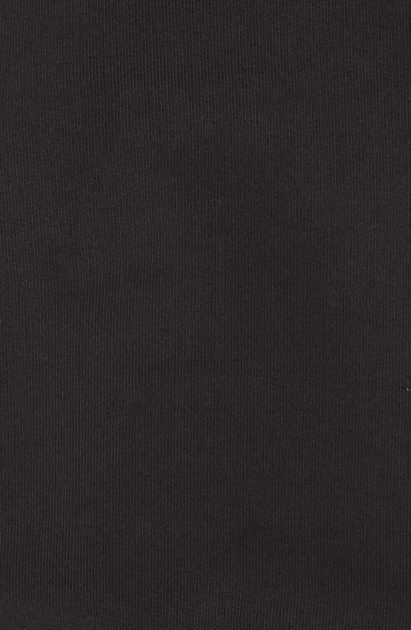 HELMUT LANG, Logo Hack Hoodie, Alternate thumbnail 5, color, BLACK BASALT/ LAVA
