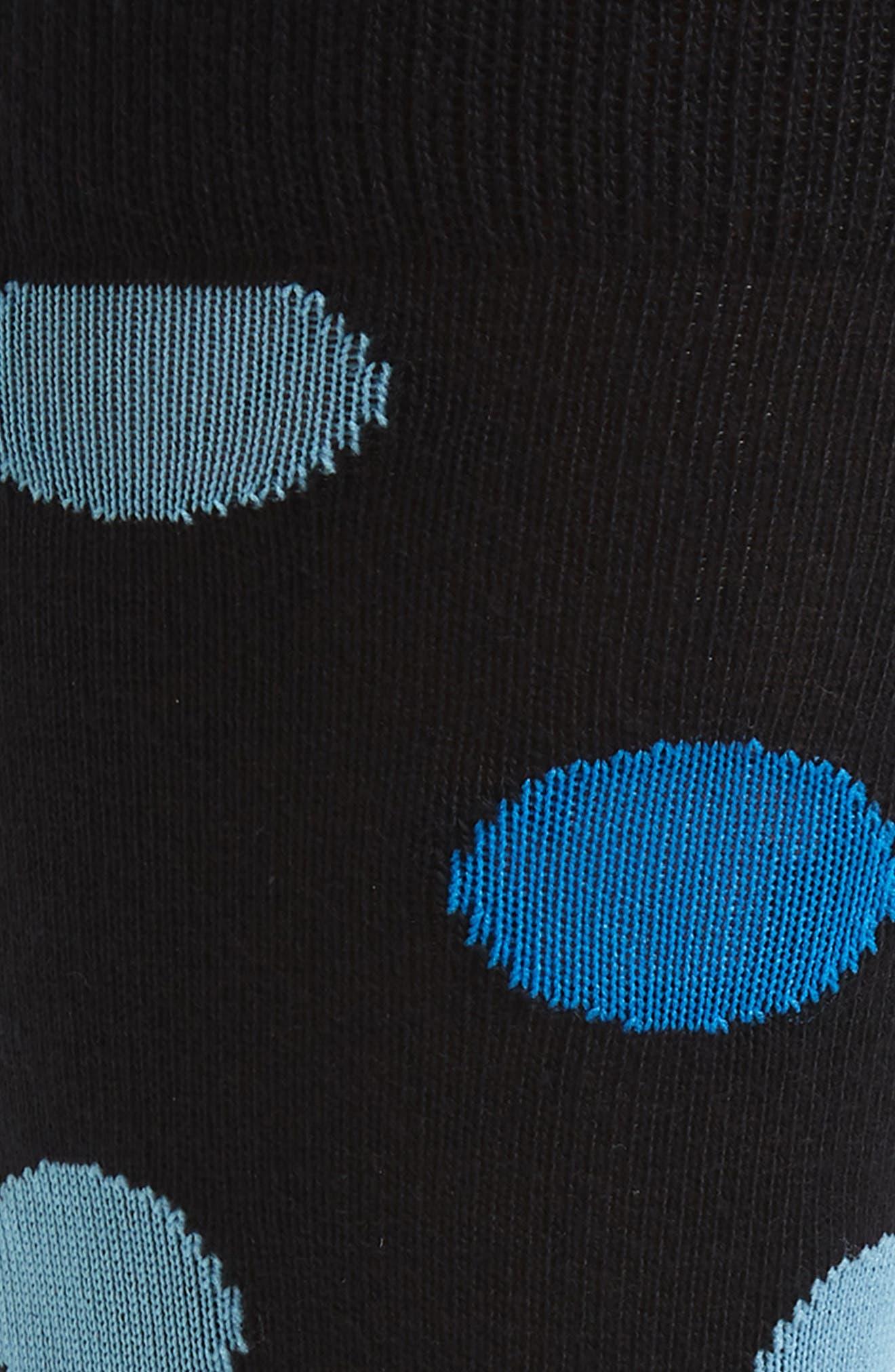 CALIBRATE, Dot Socks, Alternate thumbnail 2, color, BLACK/ BLUE