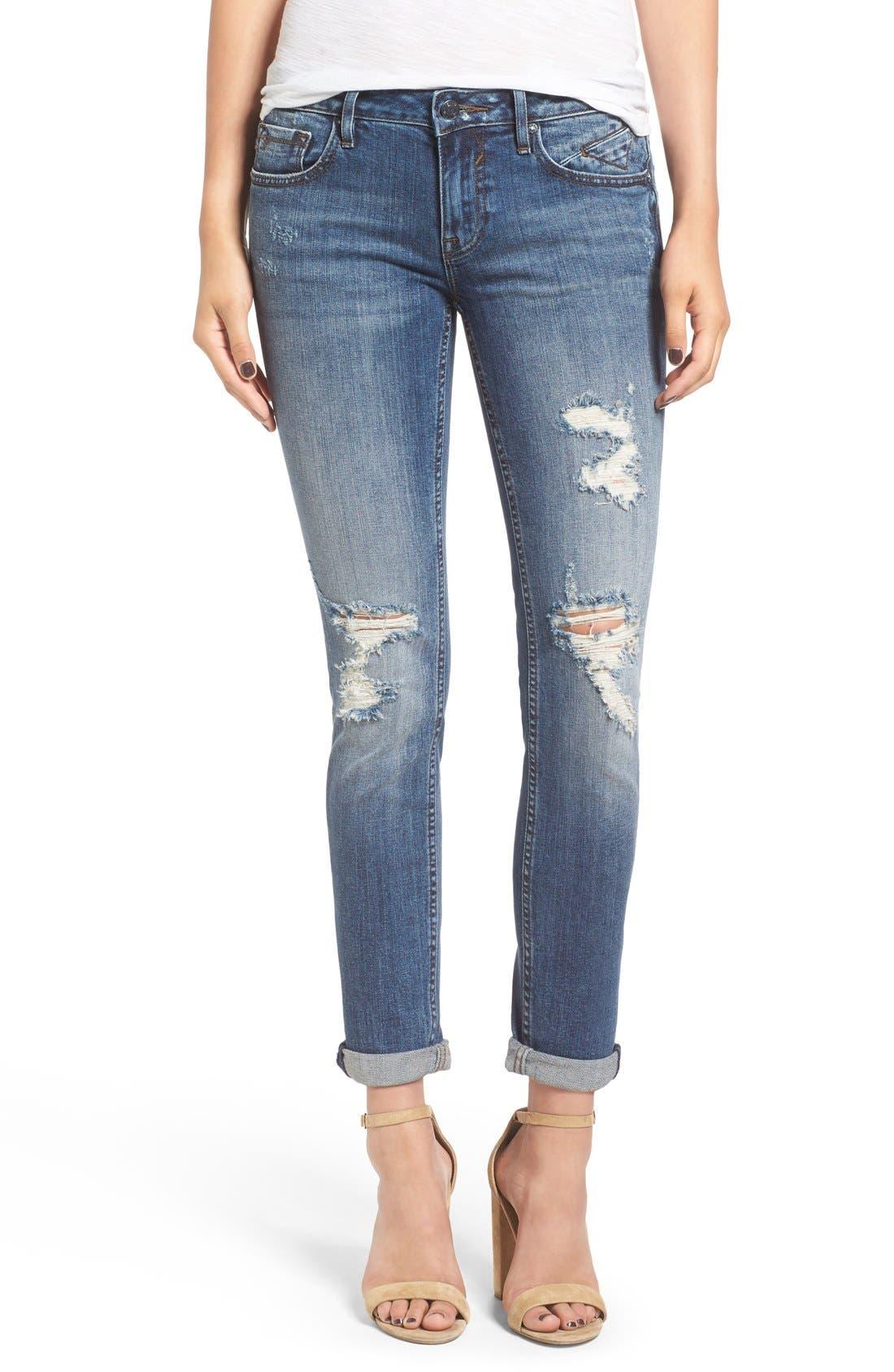 VIGOSS 'Thompson Tomboy' Ripped Boyfriend Jeans, Main, color, 400