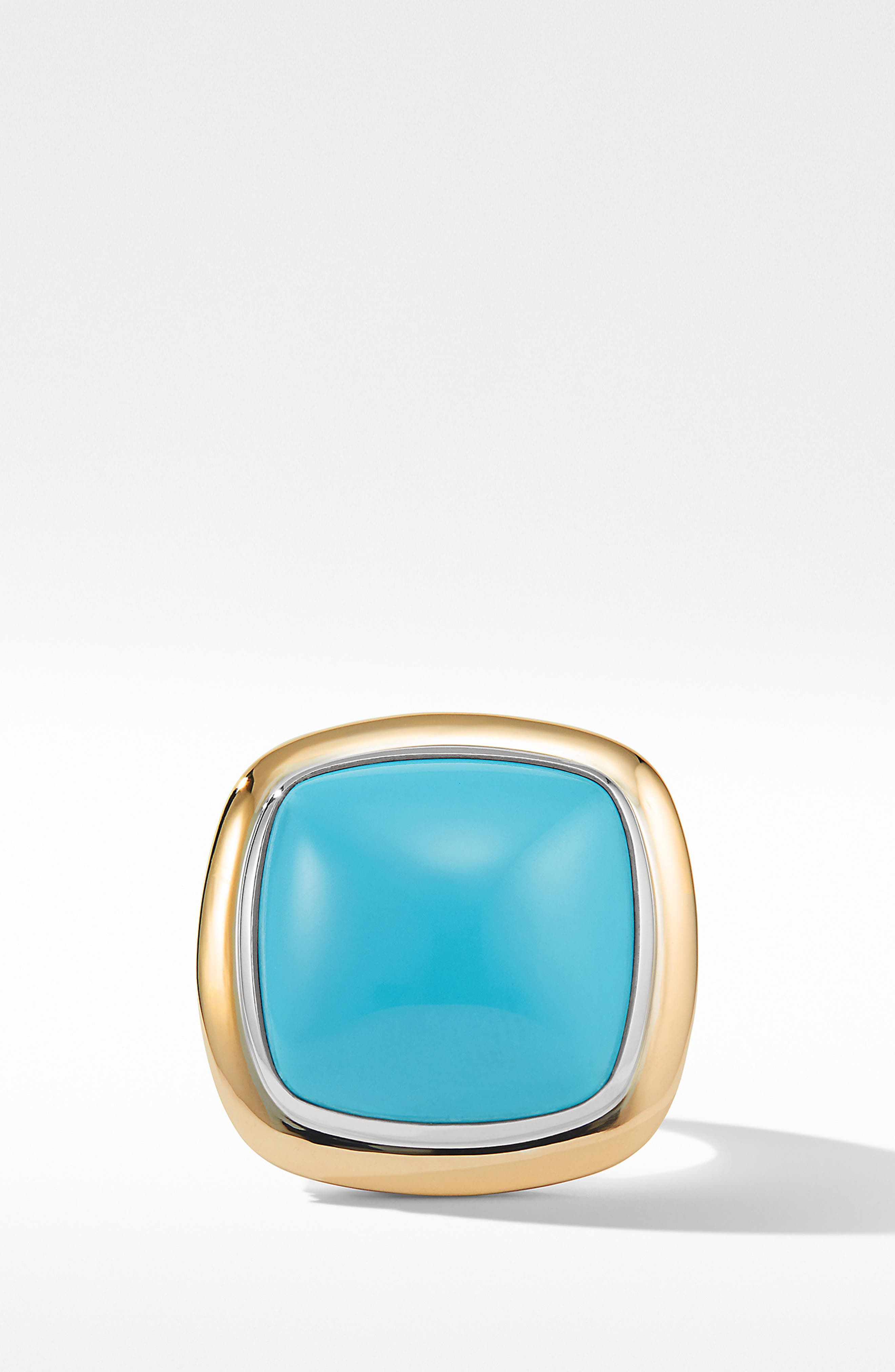 DAVID YURMAN, Albion<sup>®</sup> Statement Ring with 18K Gold and Champagne Citrine or Reconstituted Turquoise, Alternate thumbnail 2, color, RECONSTITUTED TURQUOISE