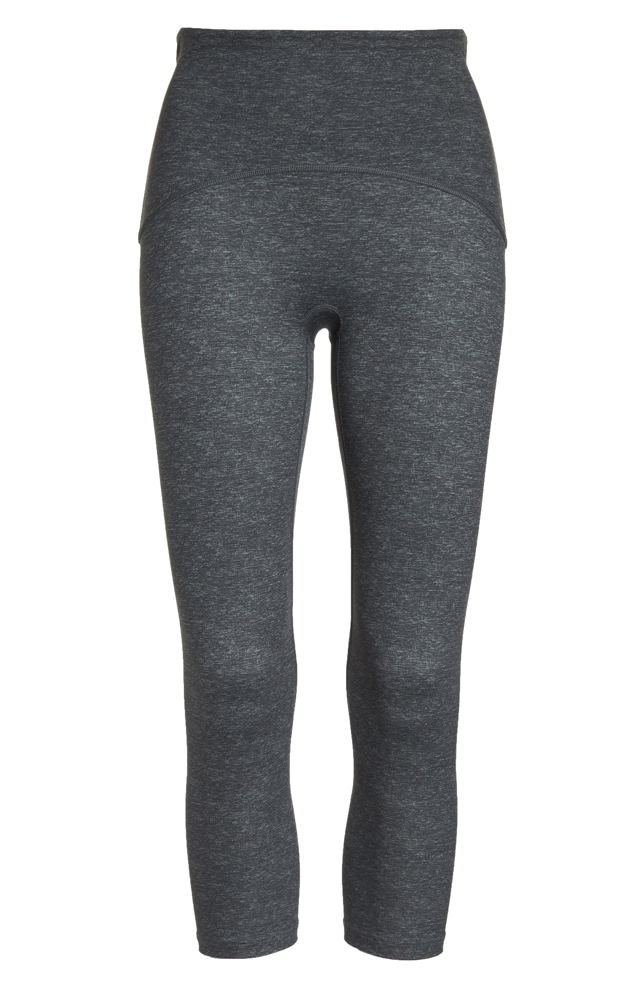 SPANX<SUP>®</SUP>, Active Print Crop Leggings, Alternate thumbnail 7, color, MARLED HEATHER