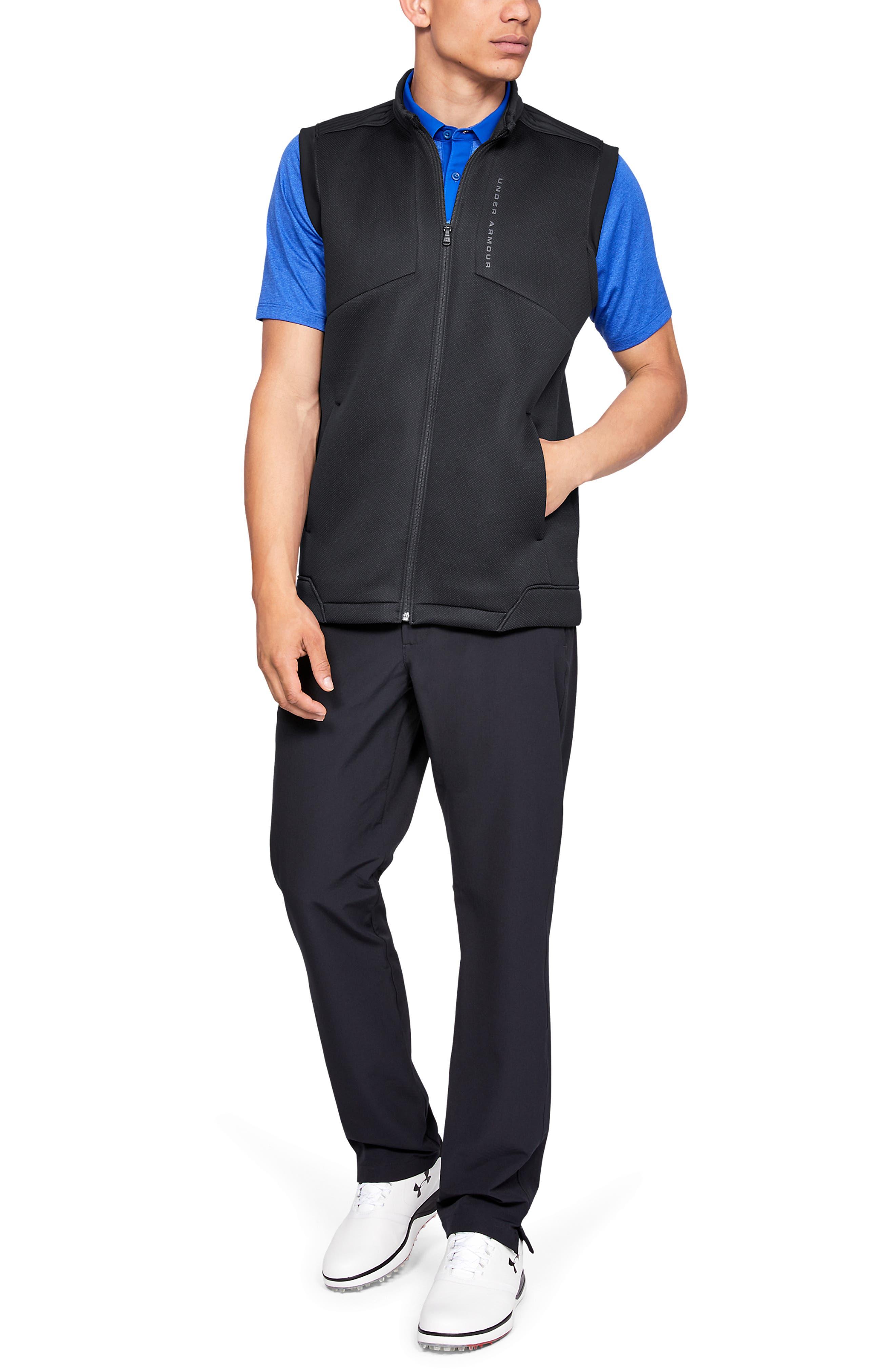 UNDER ARMOUR, Storm Daytona Vest, Alternate thumbnail 5, color, BLACK/ BLACK/ BLACK
