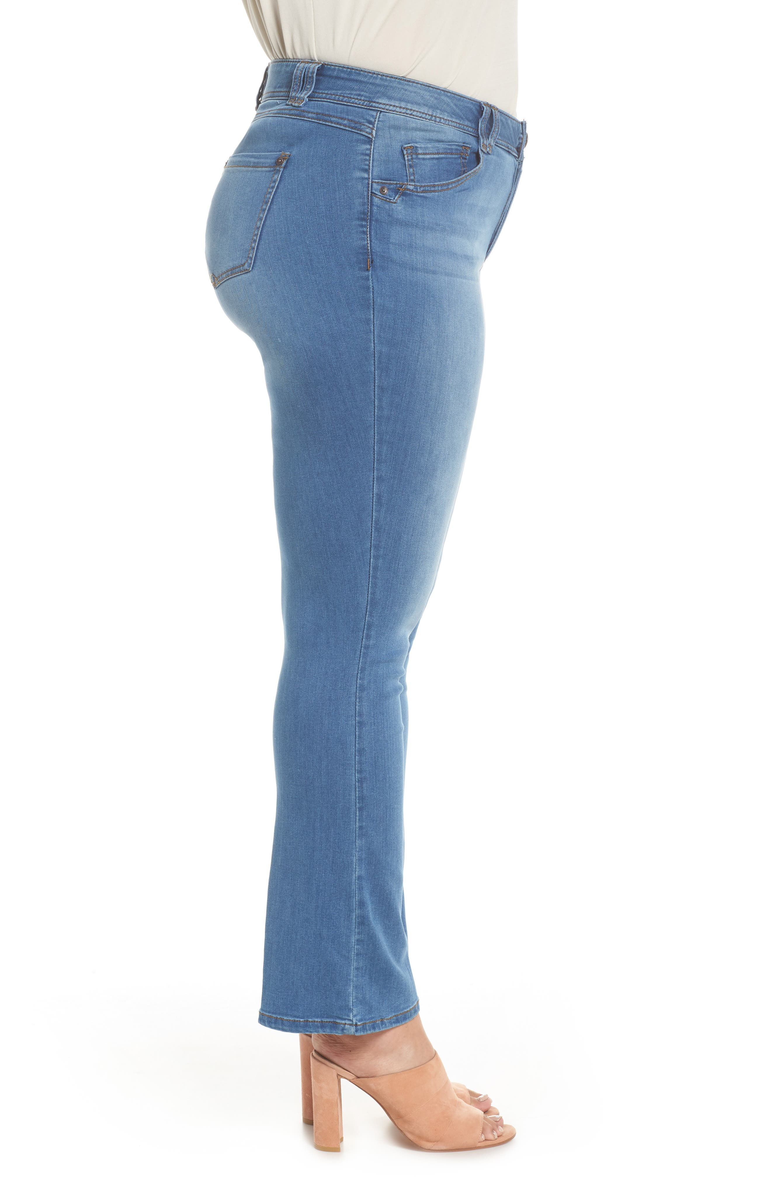WIT & WISDOM, Ab-solution Luxe Touch Bootcut Jeans, Alternate thumbnail 4, color, LIGHT BLUE