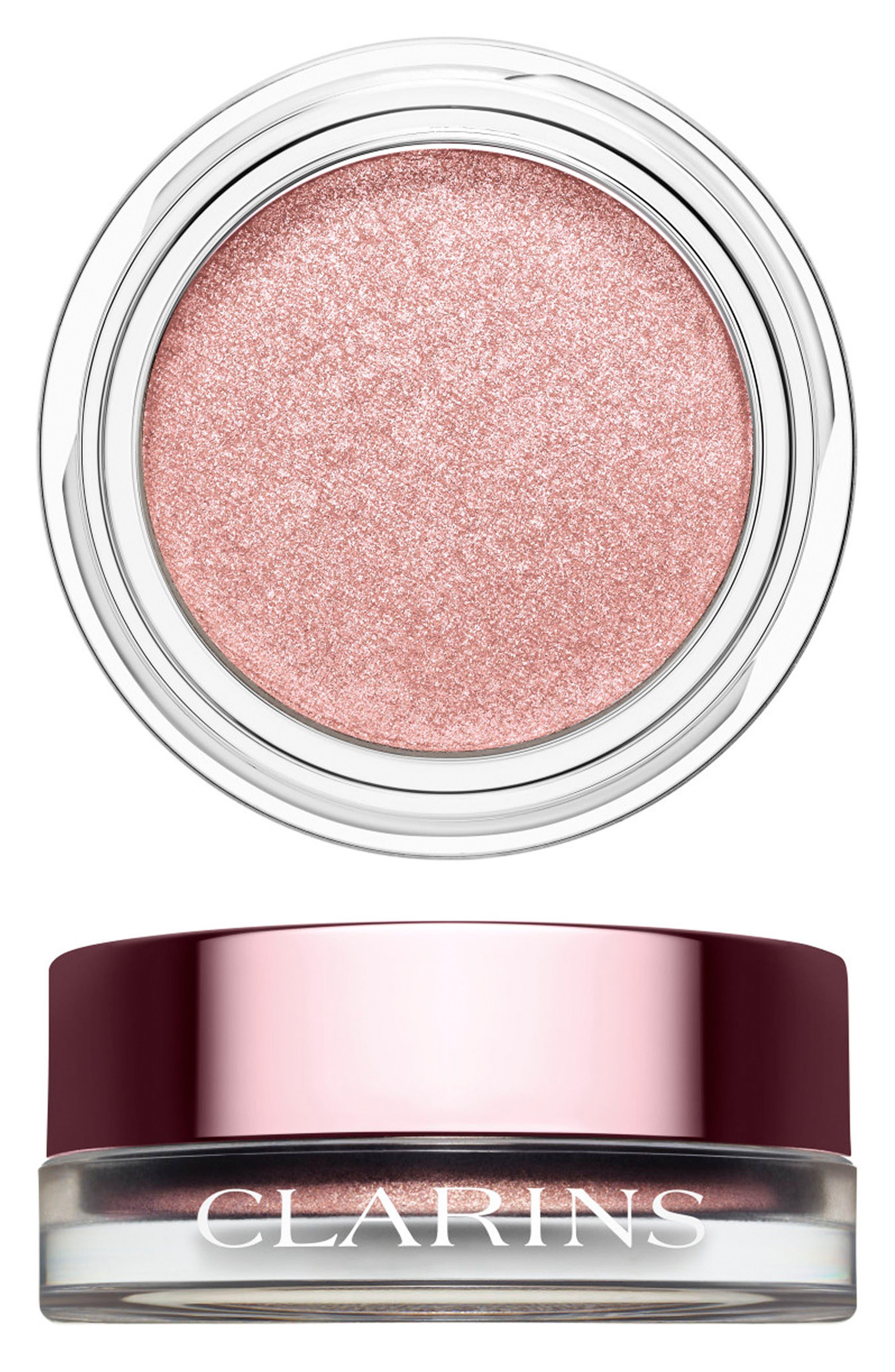 CLARINS Ombré Iridescente Cream-to-Powder Iridescent Eyeshadow, Main, color, SILVER ROSE 09