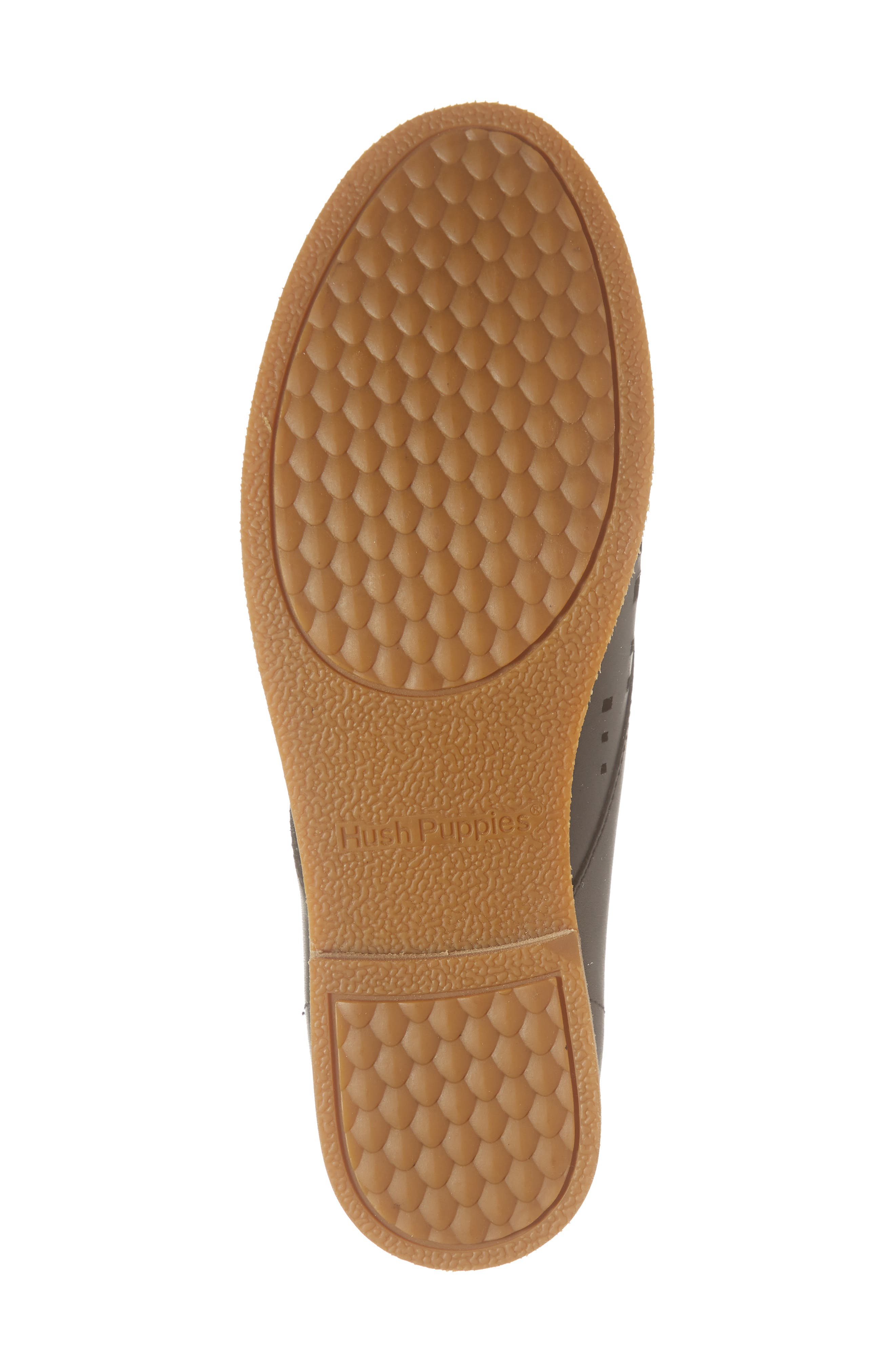 HUSH PUPPIES<SUP>®</SUP>, Chardon Perforated Derby, Alternate thumbnail 6, color, BLACK LEATHER