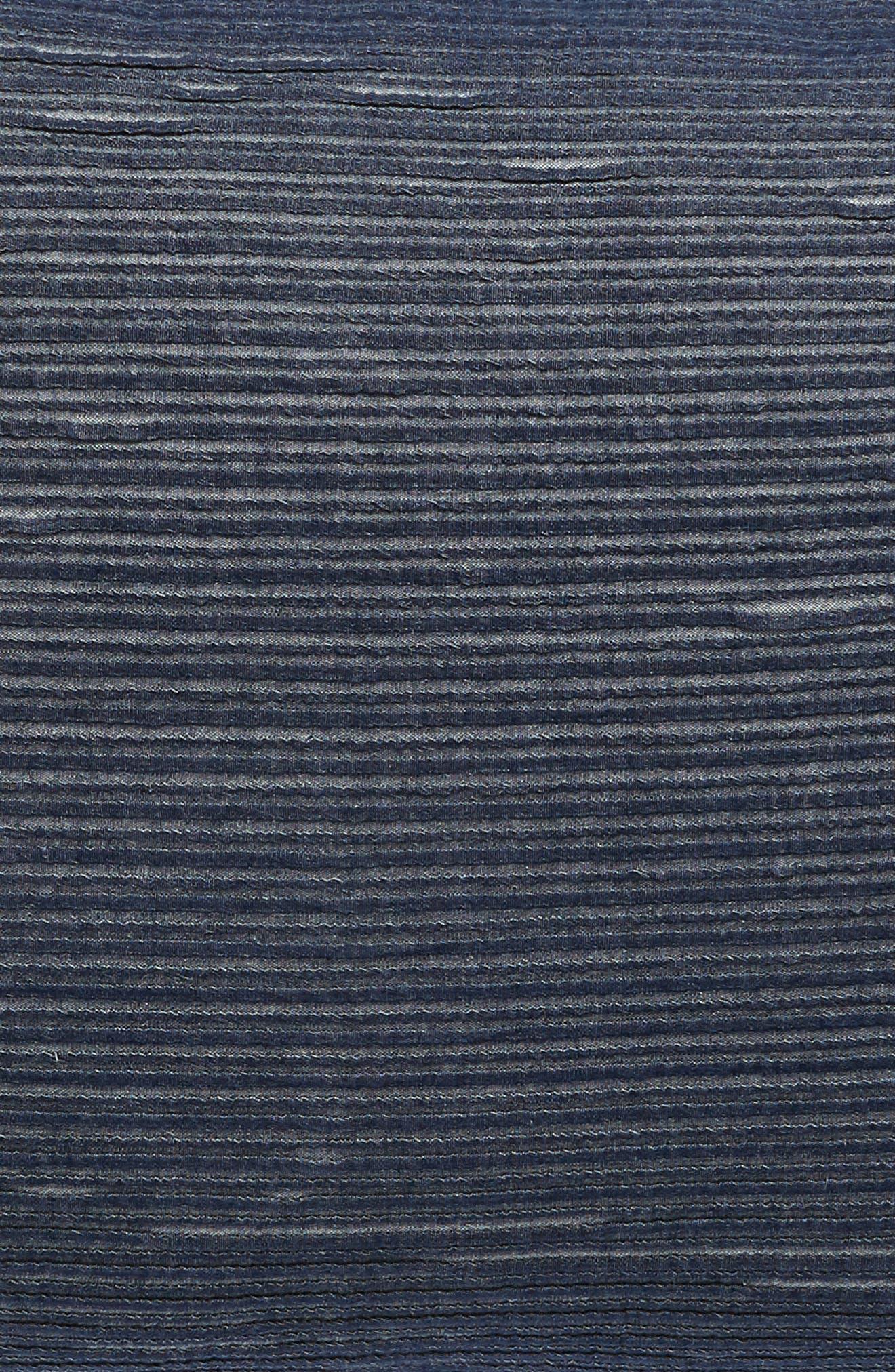 TREASURE & BOND, Stripe Texture Sham, Alternate thumbnail 3, color, NAVY BLUE