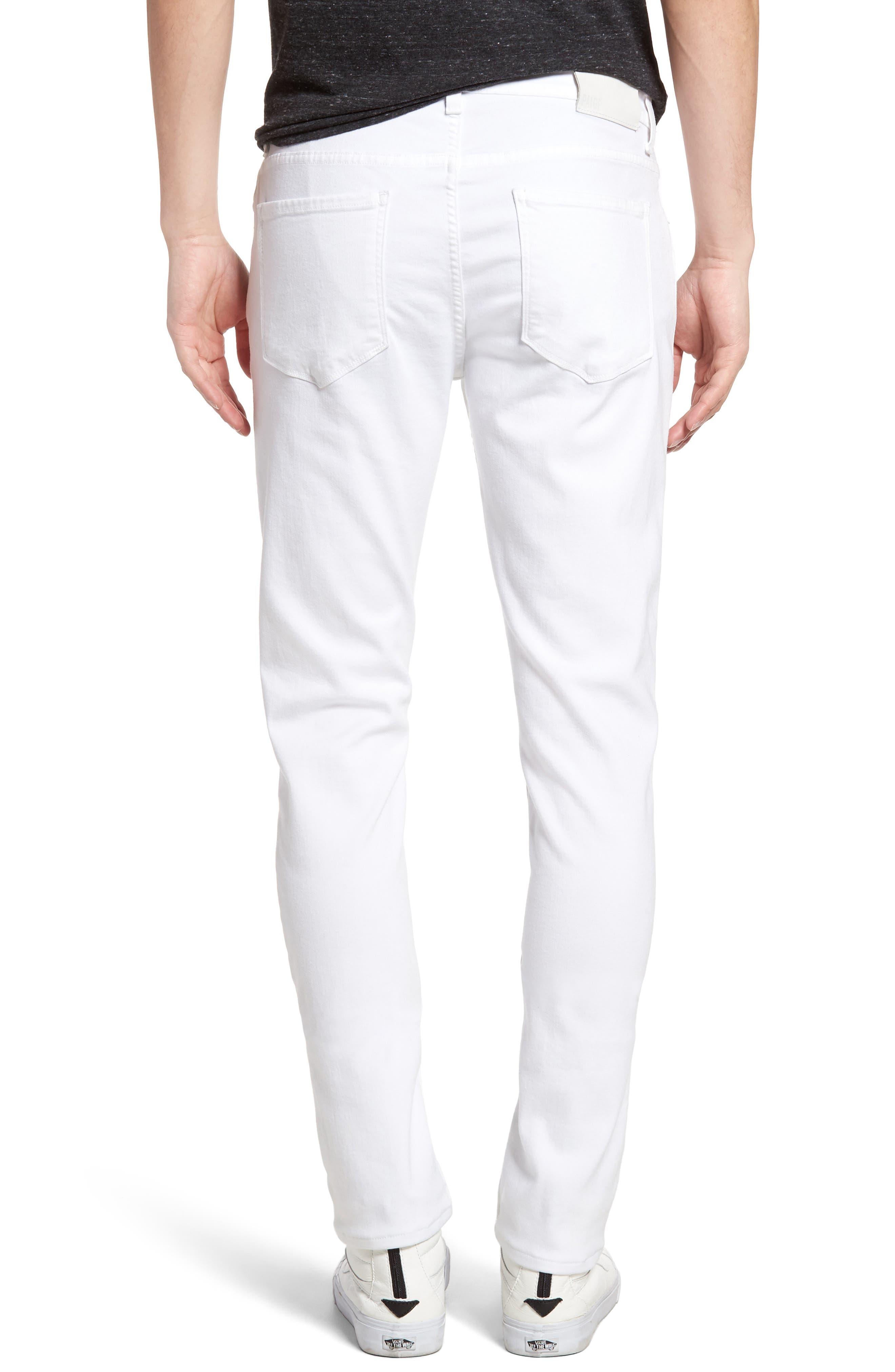 PAIGE, Transcend - Lennox Slim Fit Jeans, Alternate thumbnail 2, color, ICECAP