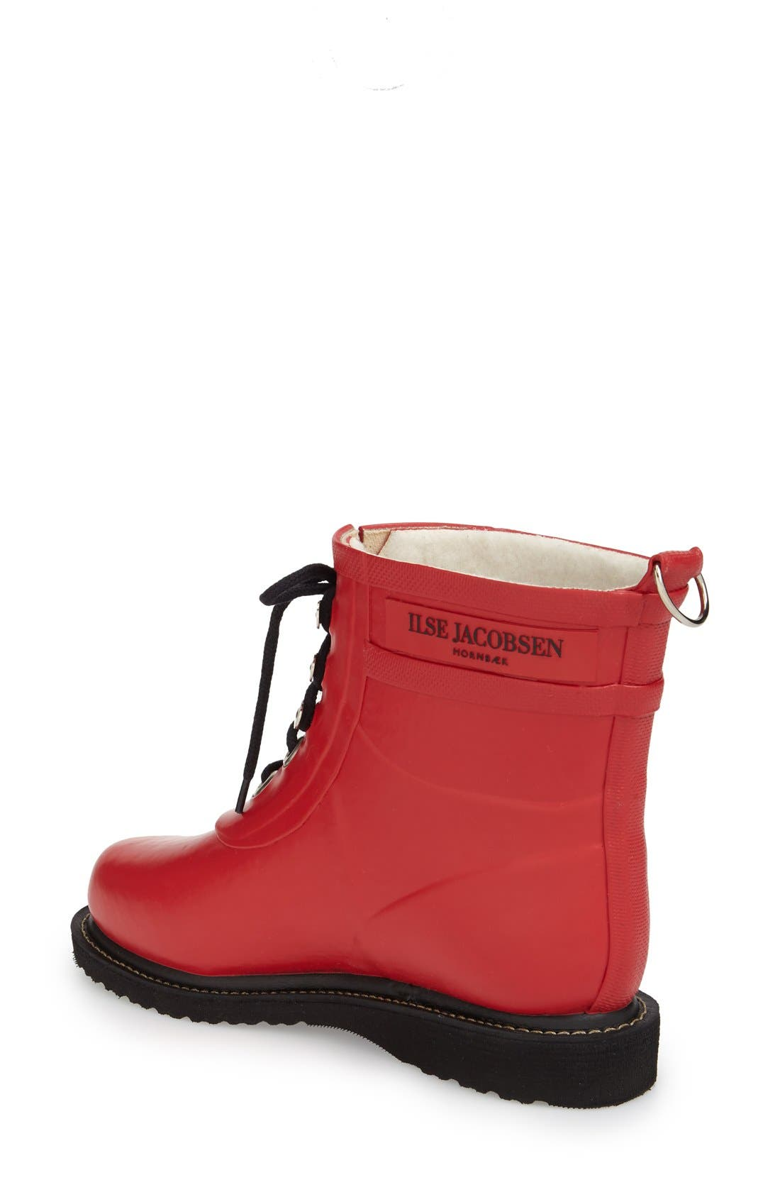 ILSE JACOBSEN, 'Rub' Boot, Alternate thumbnail 2, color, DEEP RED