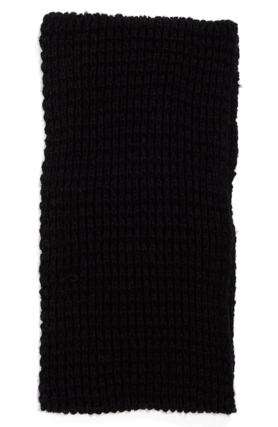 HALOGEN<SUP>®</SUP>, Waffle Knit Infinity Scarf, Alternate thumbnail 3, color, 001