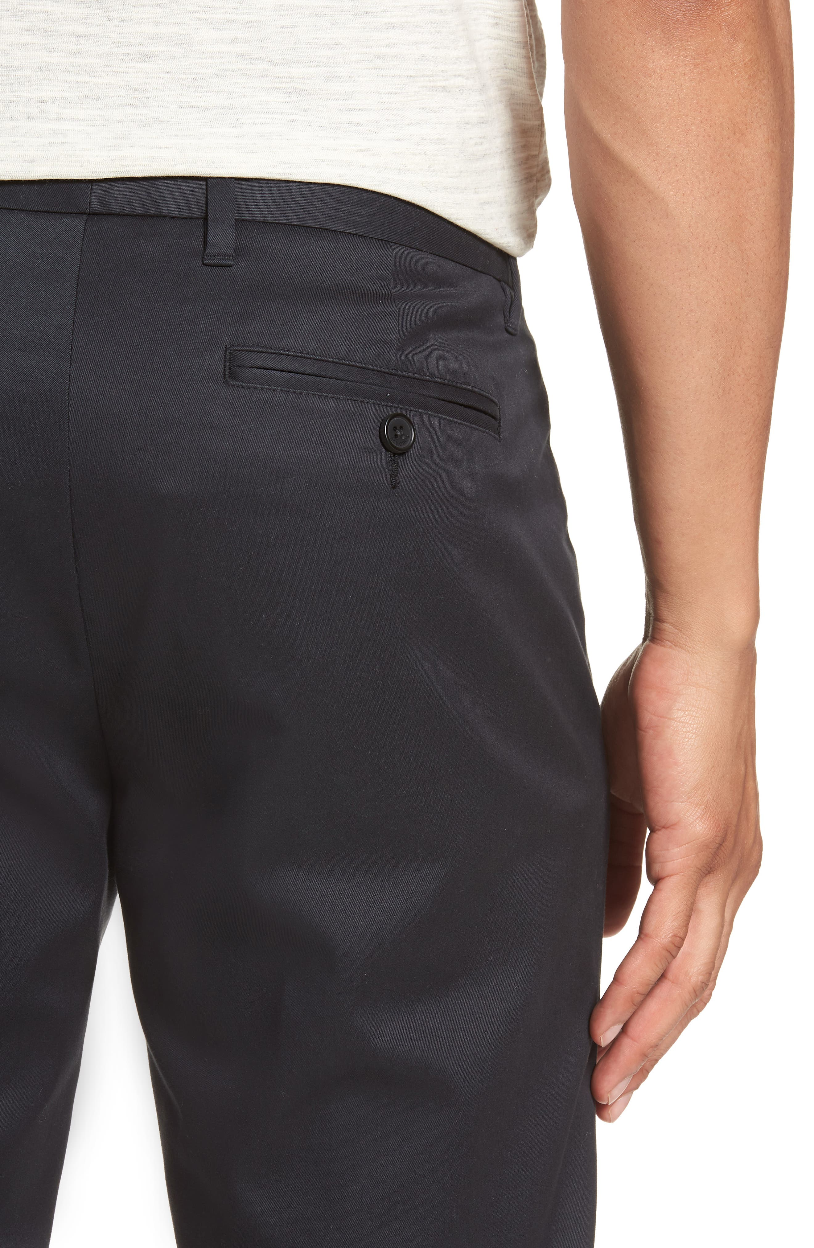 BONOBOS, Weekday Warrior Slim Fit Stretch Dress Pants, Alternate thumbnail 5, color, BLACK