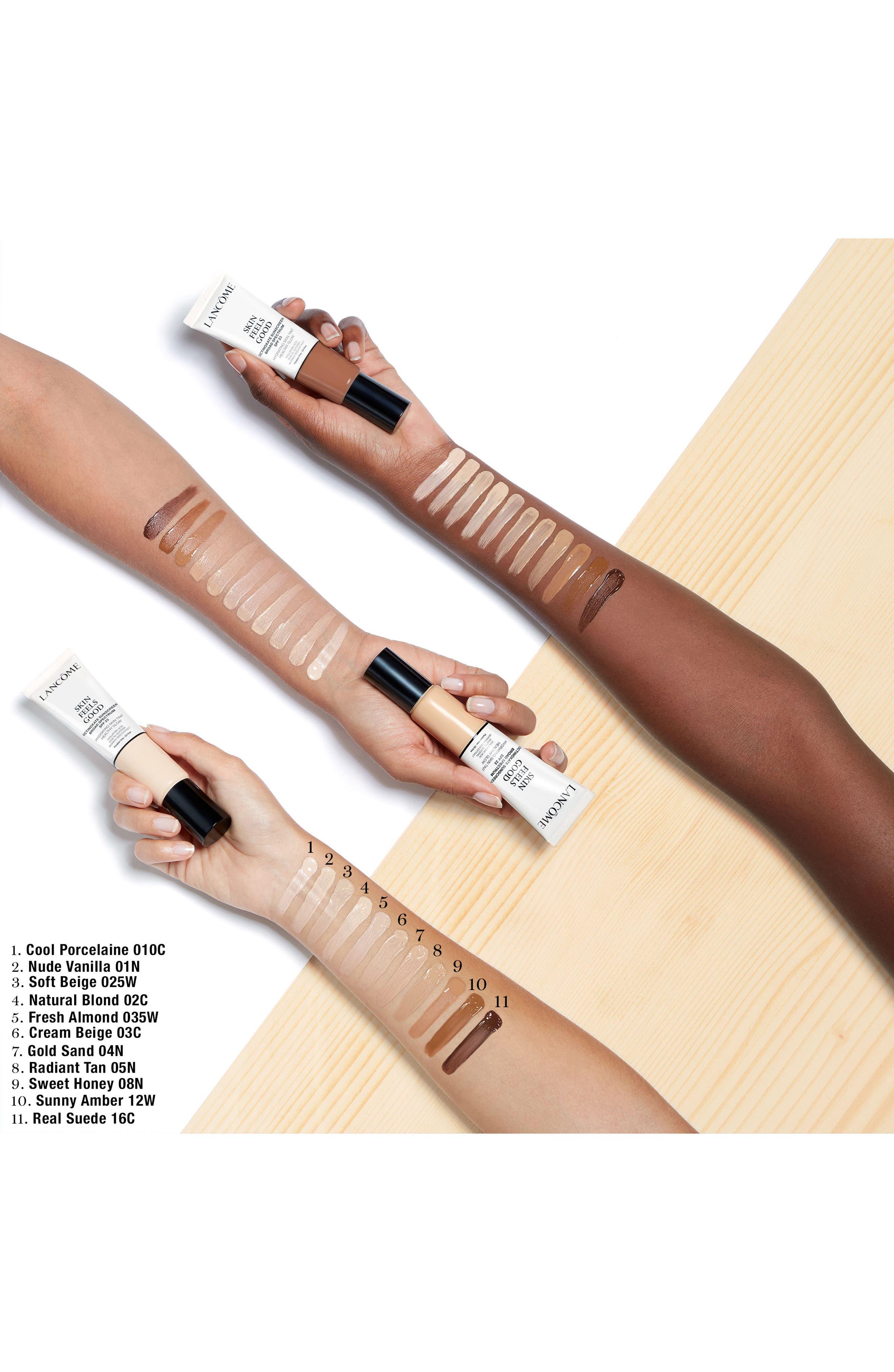 LANCÔME, Skin Feels Good Hydrating Skin Tint Healthy Glow SPF 23, Alternate thumbnail 5, color, 05N RADIANT TAN