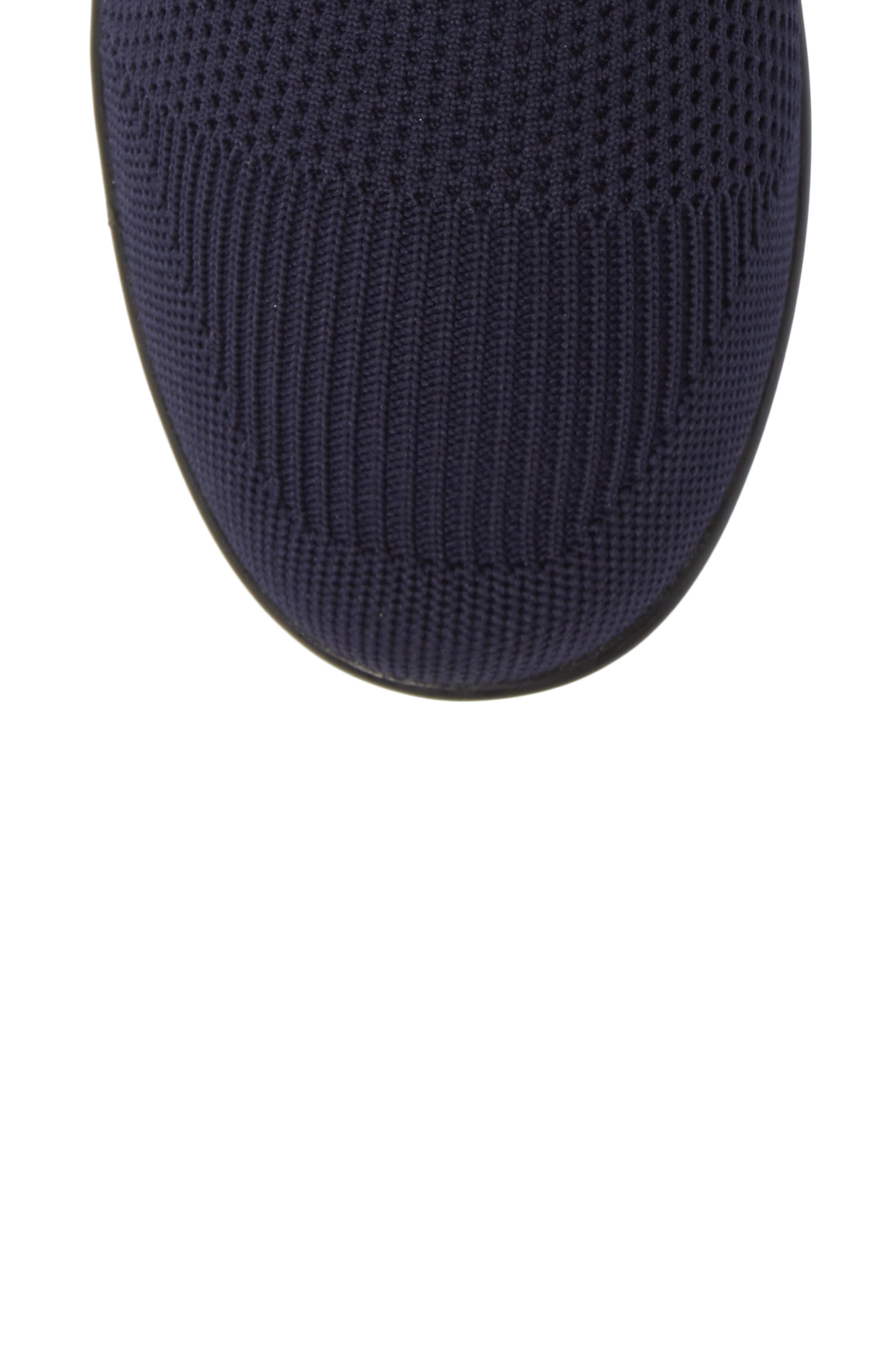 BERNIE MEV., Camryn Knit Bootie, Alternate thumbnail 5, color, NAVY FABRIC