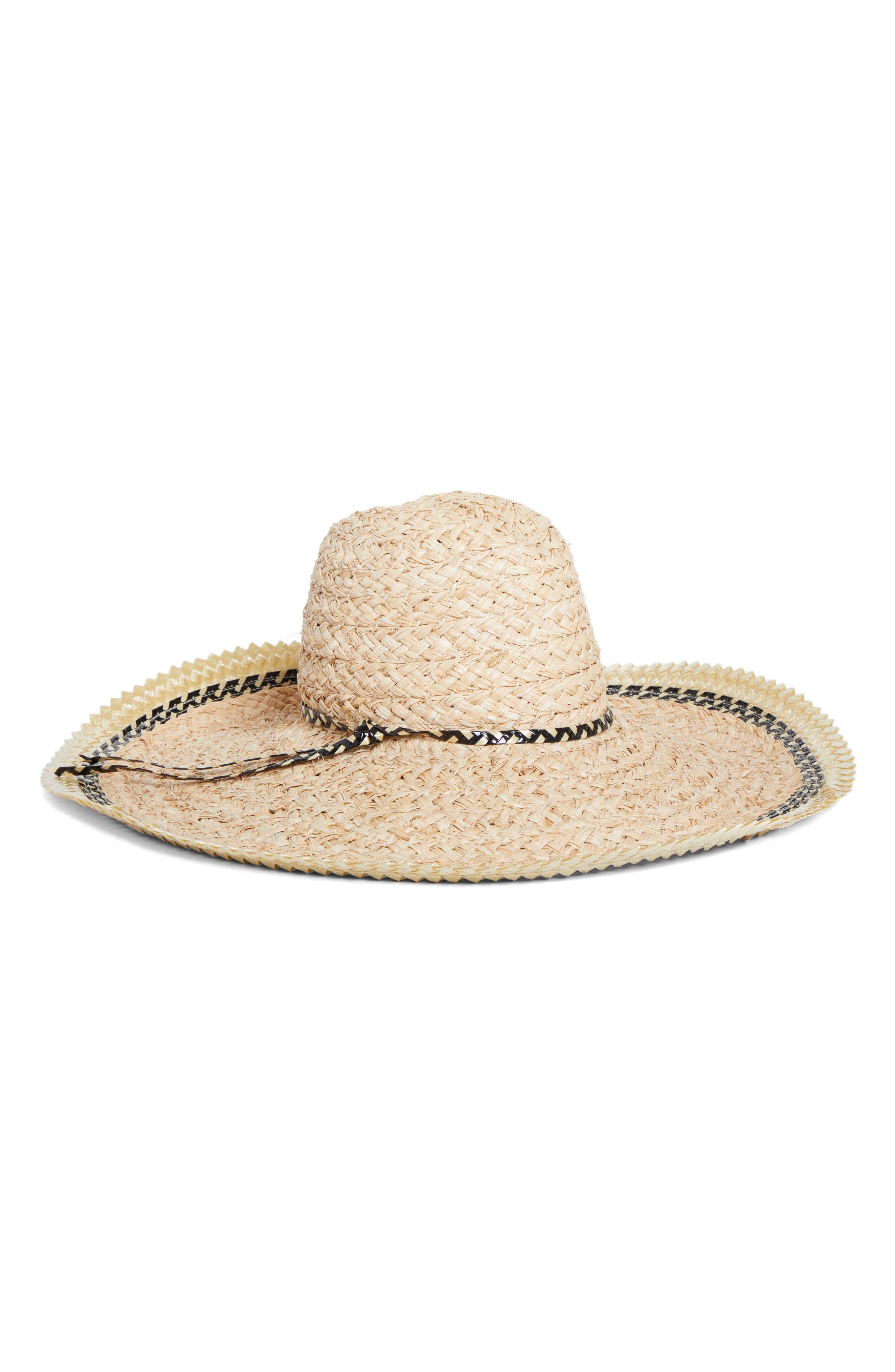 GIGI BURRIS MILLINERY Pacific Straw Hat, Main, color, NATURAL/ BLACK