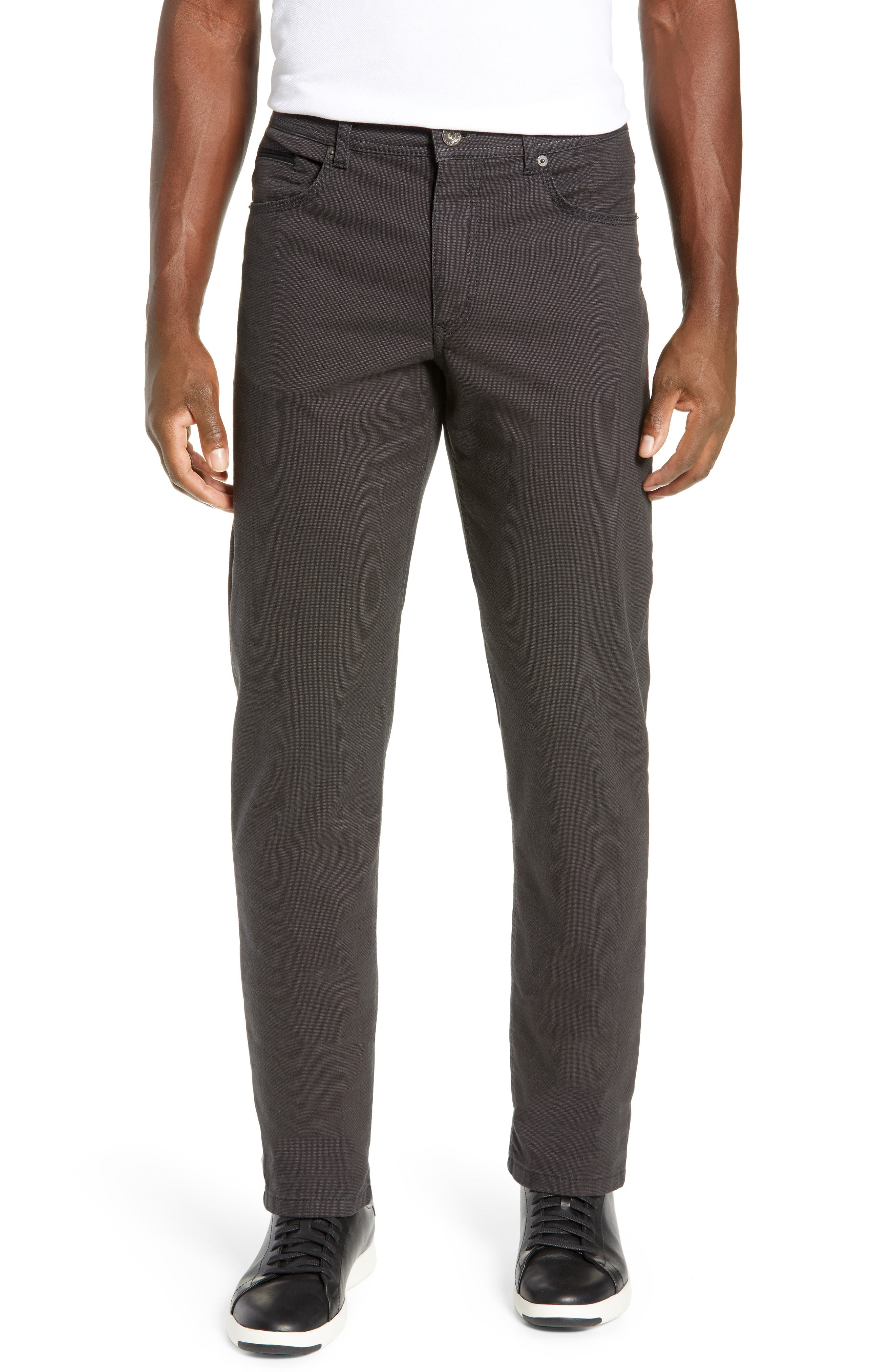 BRAX Woolook Classic Fit Flat Front Pants, Main, color, ANTHRA