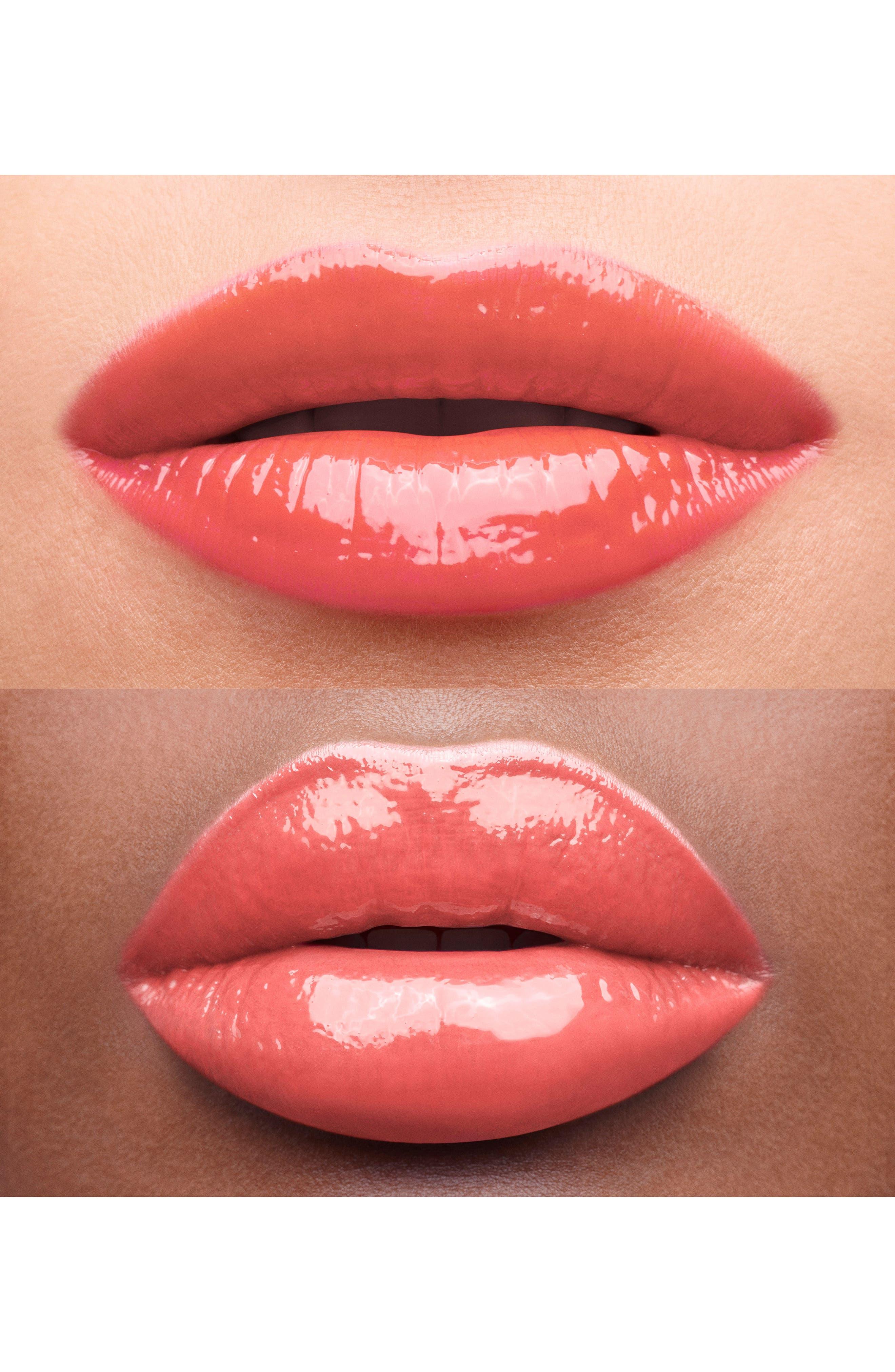 YVES SAINT LAURENT, Glossy Stain Lip Color, Alternate thumbnail 2, color, 07 CORAIL AQUATIQUE