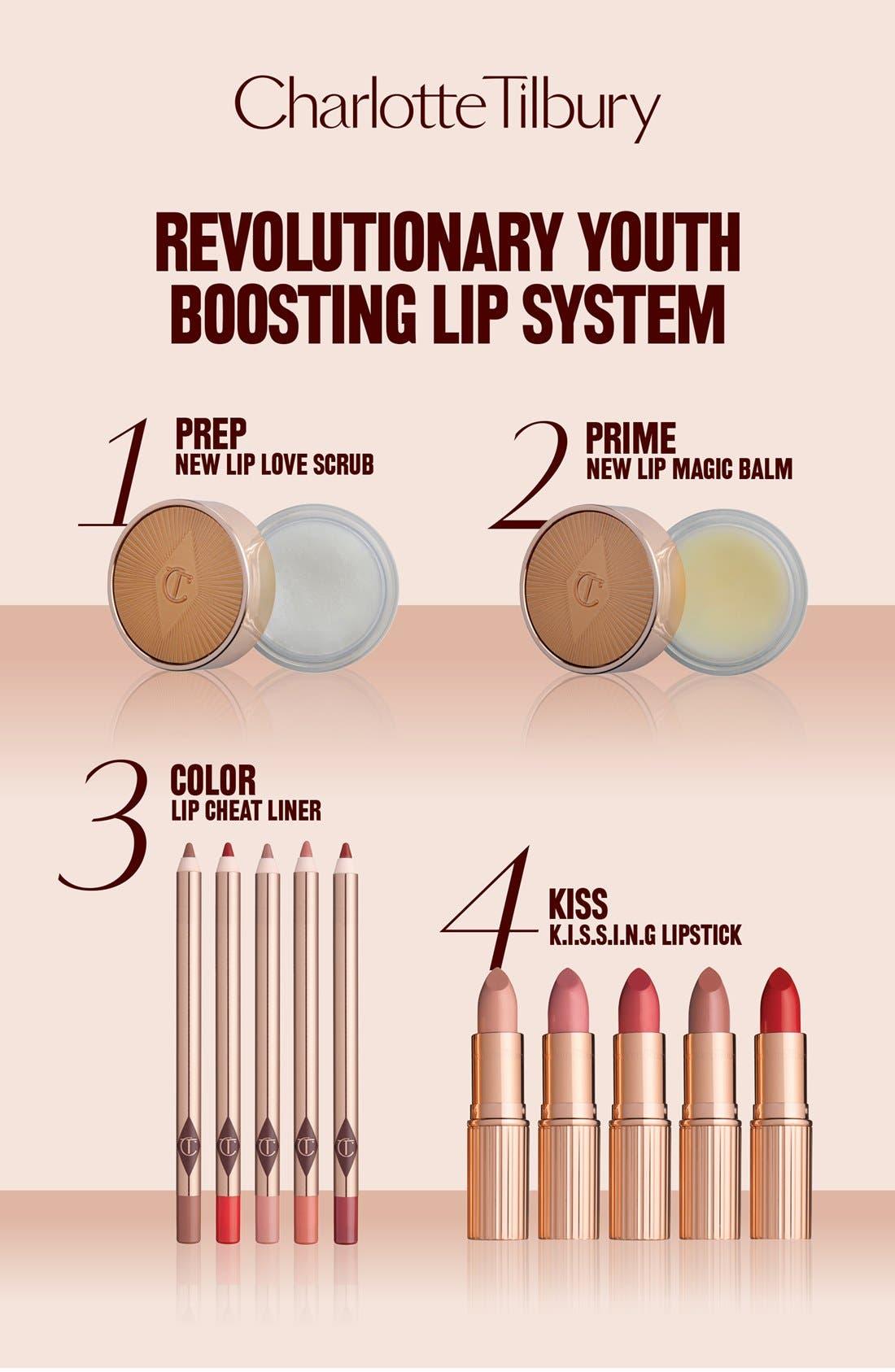 CHARLOTTE TILBURY, Lip Magic Rejuvenating Smoothing Lip Balm, Alternate thumbnail 4, color, 000