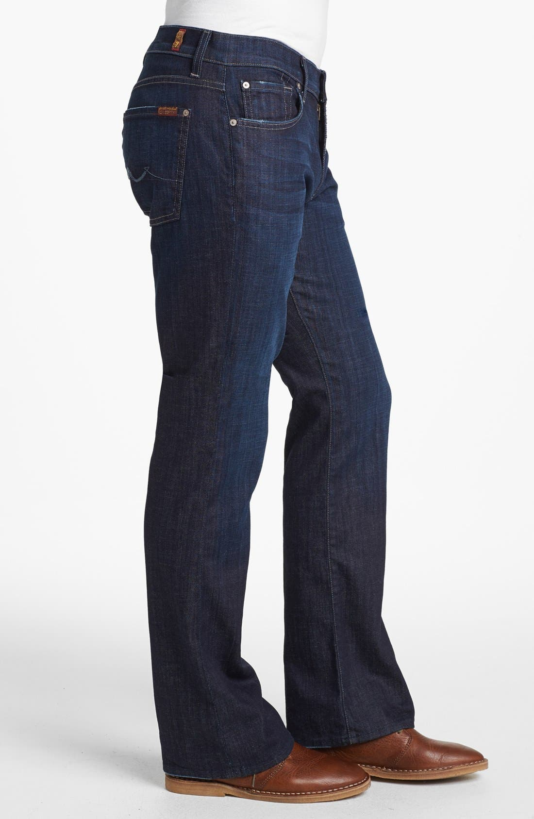 7 FOR ALL MANKIND<SUP>®</SUP>, 'Brett' Relaxed Bootcut Jeans, Alternate thumbnail 2, color, LOS ANGELES