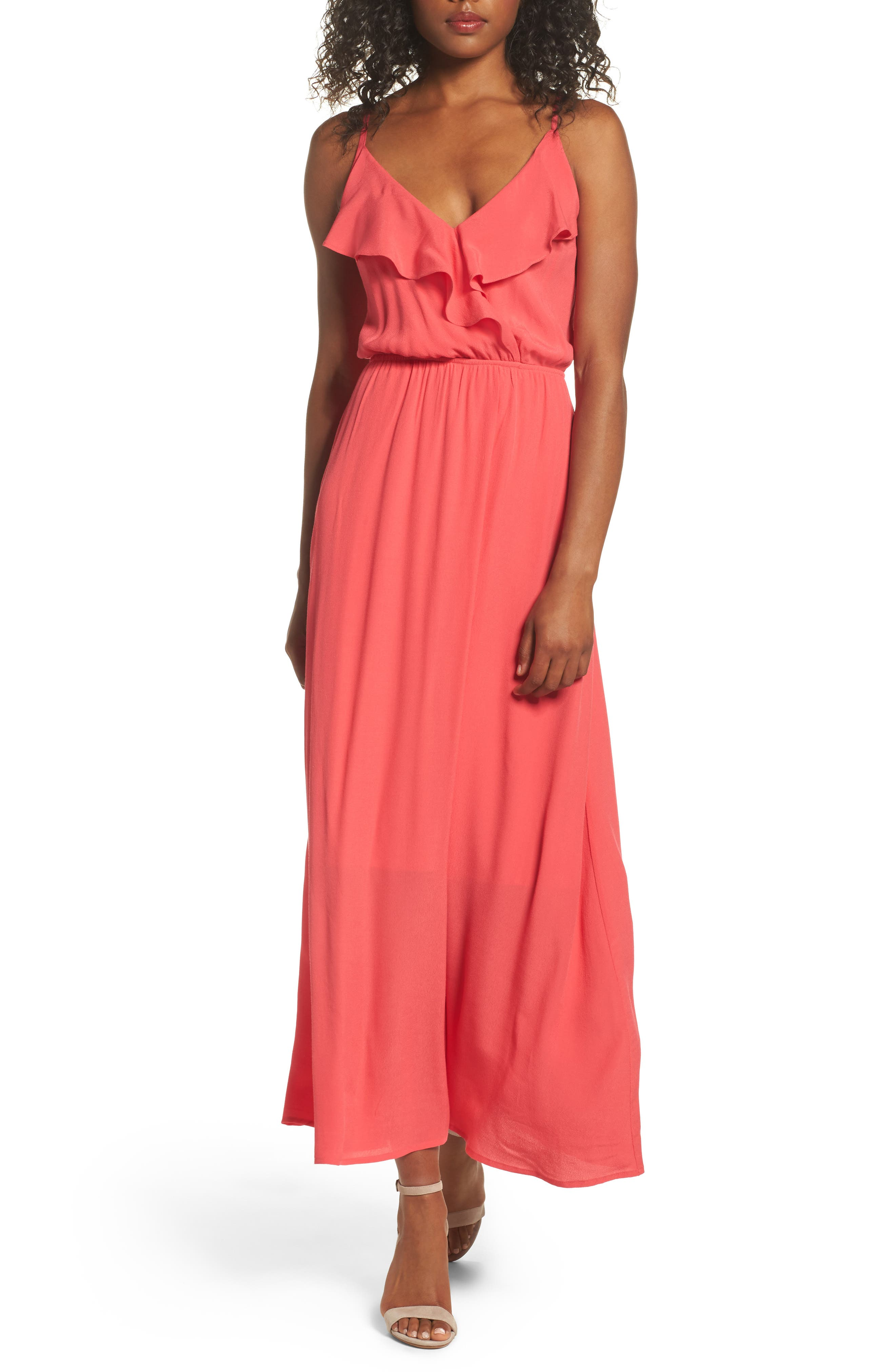 Fraiche By J Blouson Maxi Dress, Red