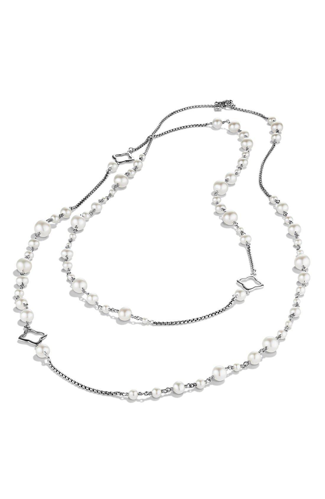 DAVID YURMAN, Pearl Chain Necklace, Alternate thumbnail 4, color, PEARL
