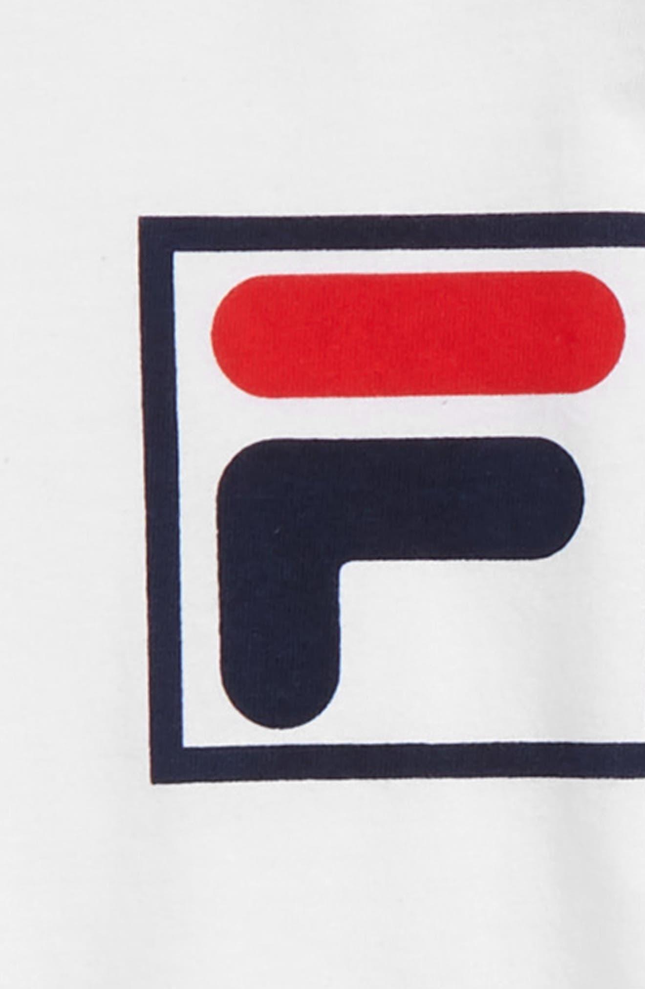 FILA, Logo T-Shirt, Alternate thumbnail 2, color, WHITE