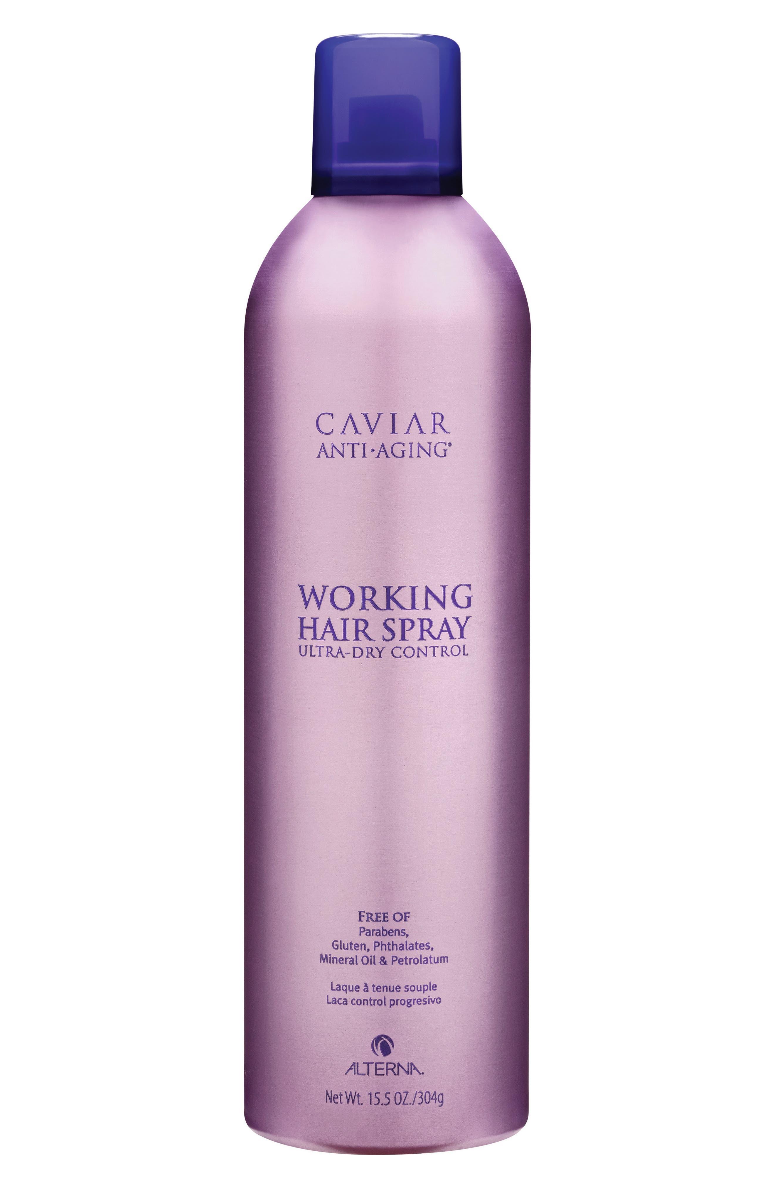 ALTERNA<SUP>®</SUP>, Caviar Anti-Aging Working Hair Spray, Alternate thumbnail 2, color, 000