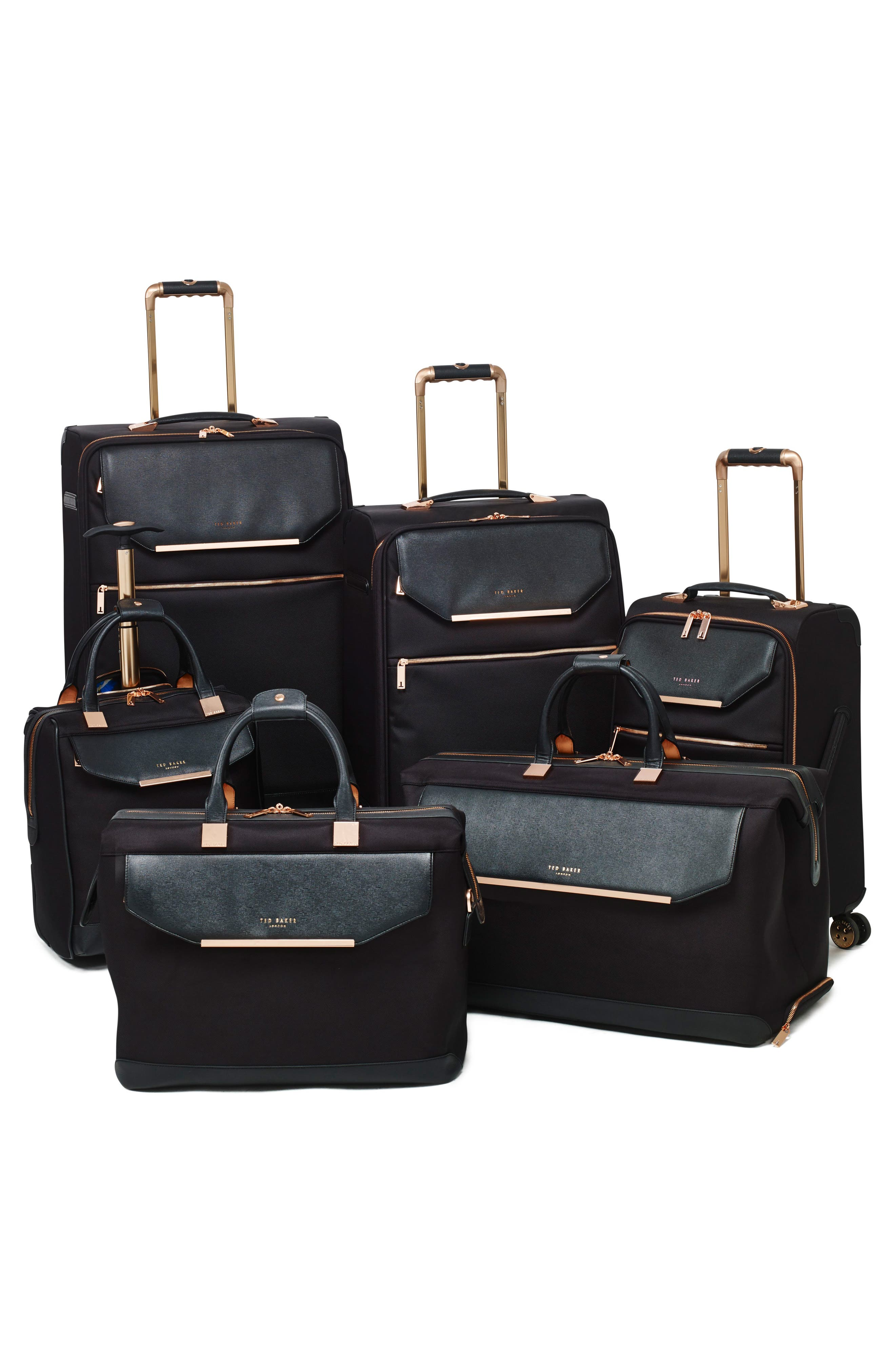 TED BAKER LONDON, Medium Albany 27-Inch Spinner Suitcase, Alternate thumbnail 7, color, BLACK